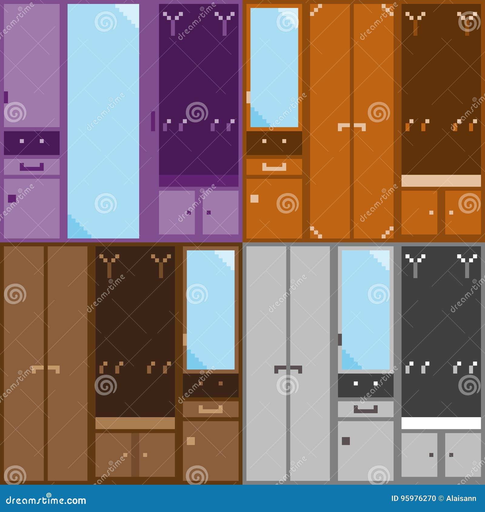 Un equipo de cuatro sistemas de los muebles modulares para el vestíbulo