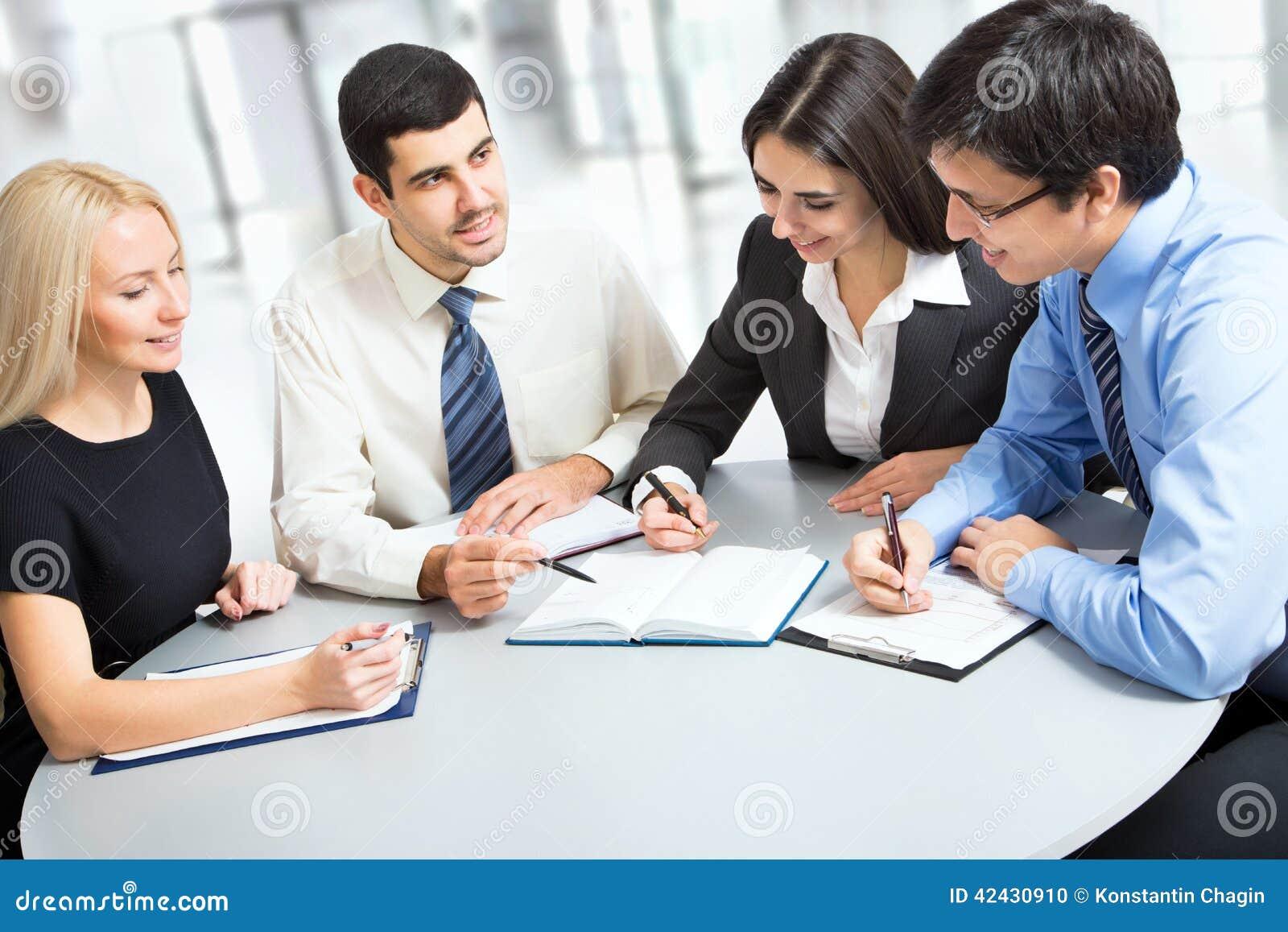 Un equipo del negocio