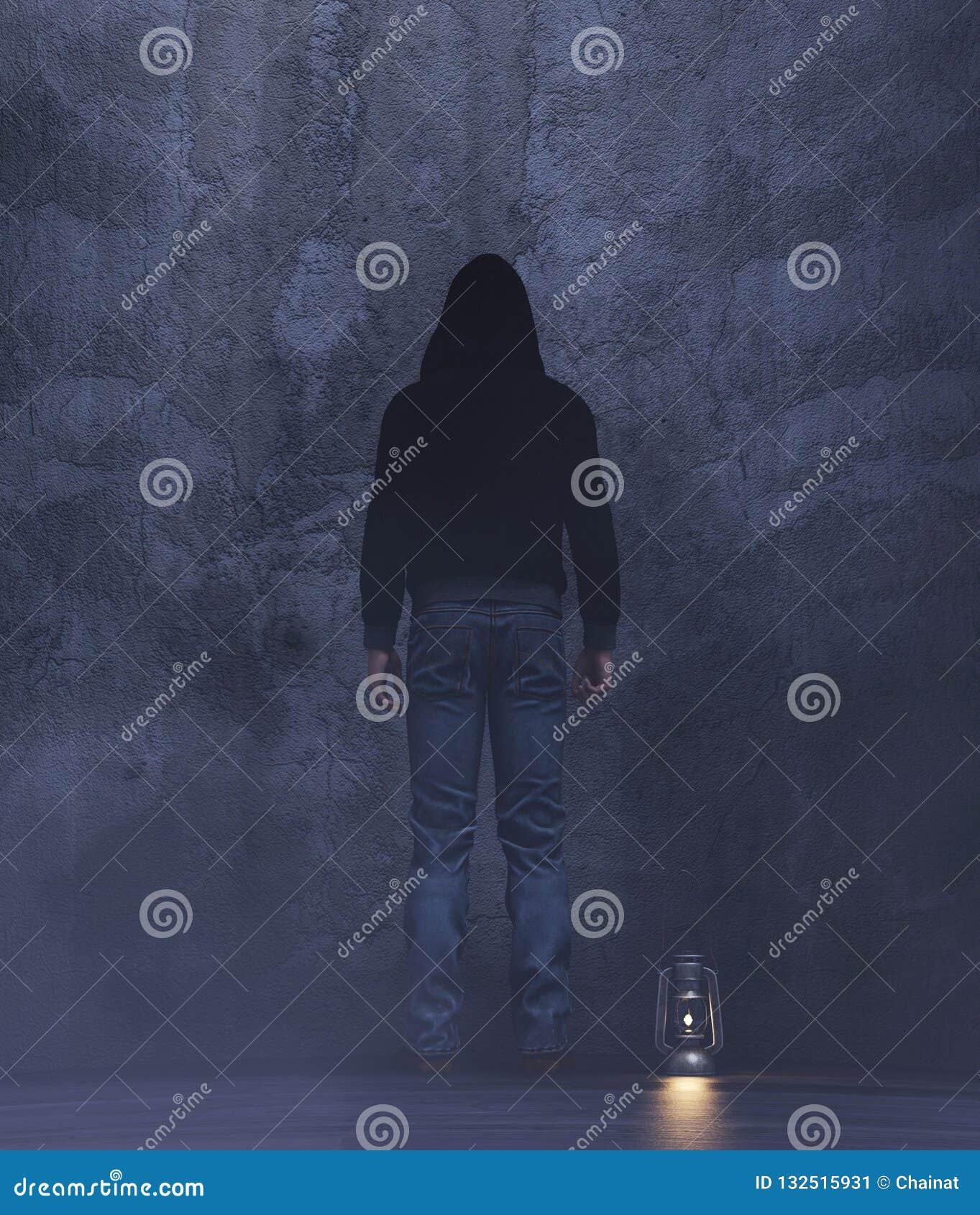 Un extranjero en un cuarto oscuro