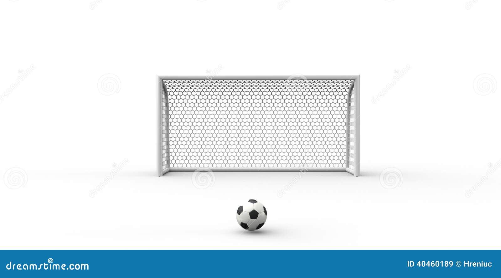 Un Fútbol Blanco Y Negro Del Balón De Fútbol Y Posts De La Meta ... c7b66d17914c6