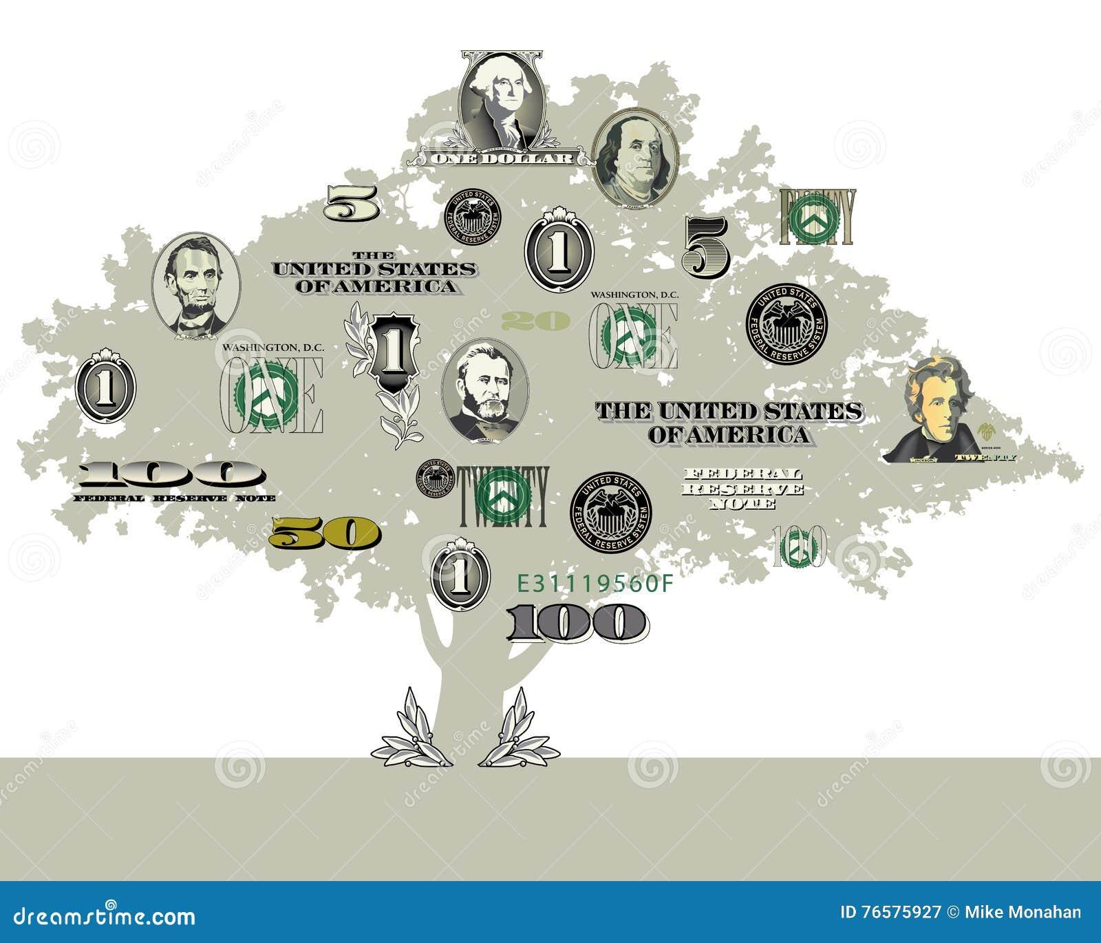 Un fondo del árbol del dinero