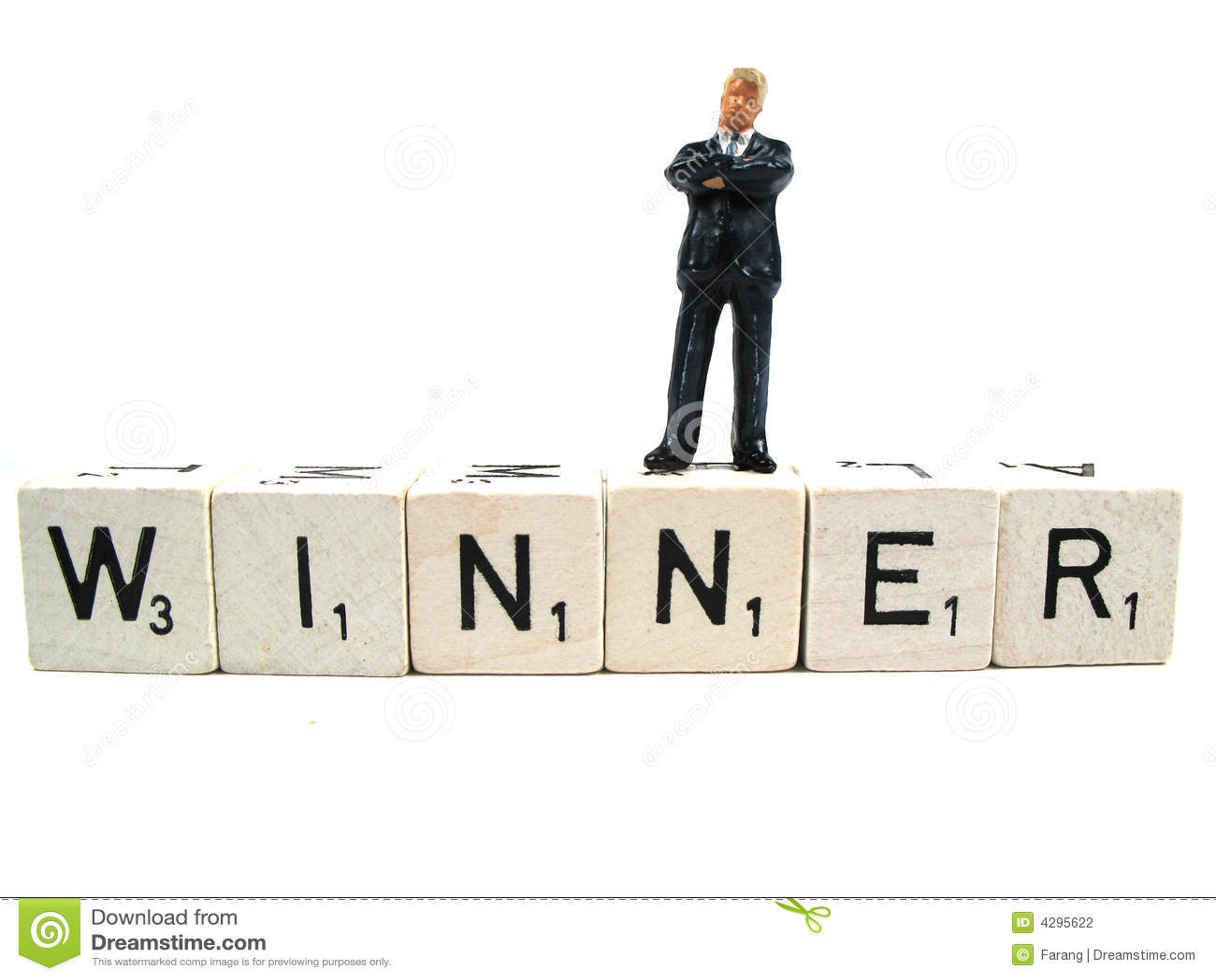 Un gagnant réel restant sur le mot