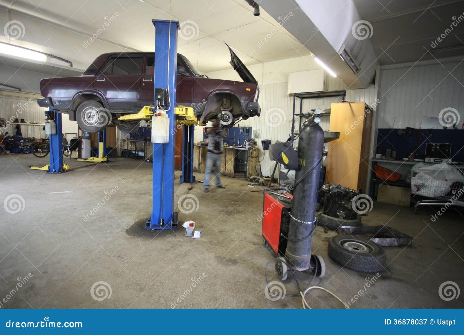 Download Un Garage Di Riparazione Dell'automobile Immagine Stock - Immagine di motore, movimento: 36878037