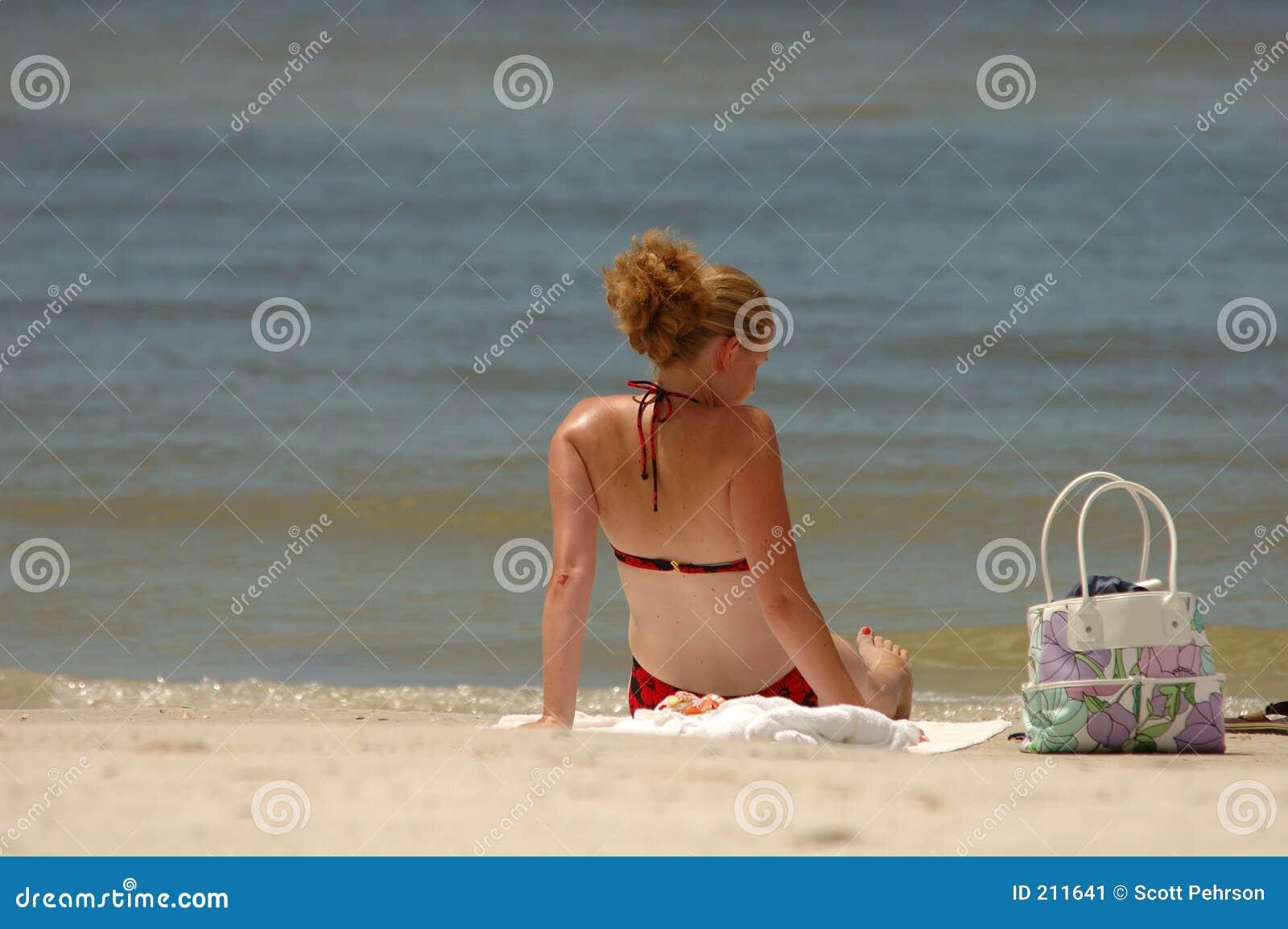Un giorno alla distensione della spiaggia