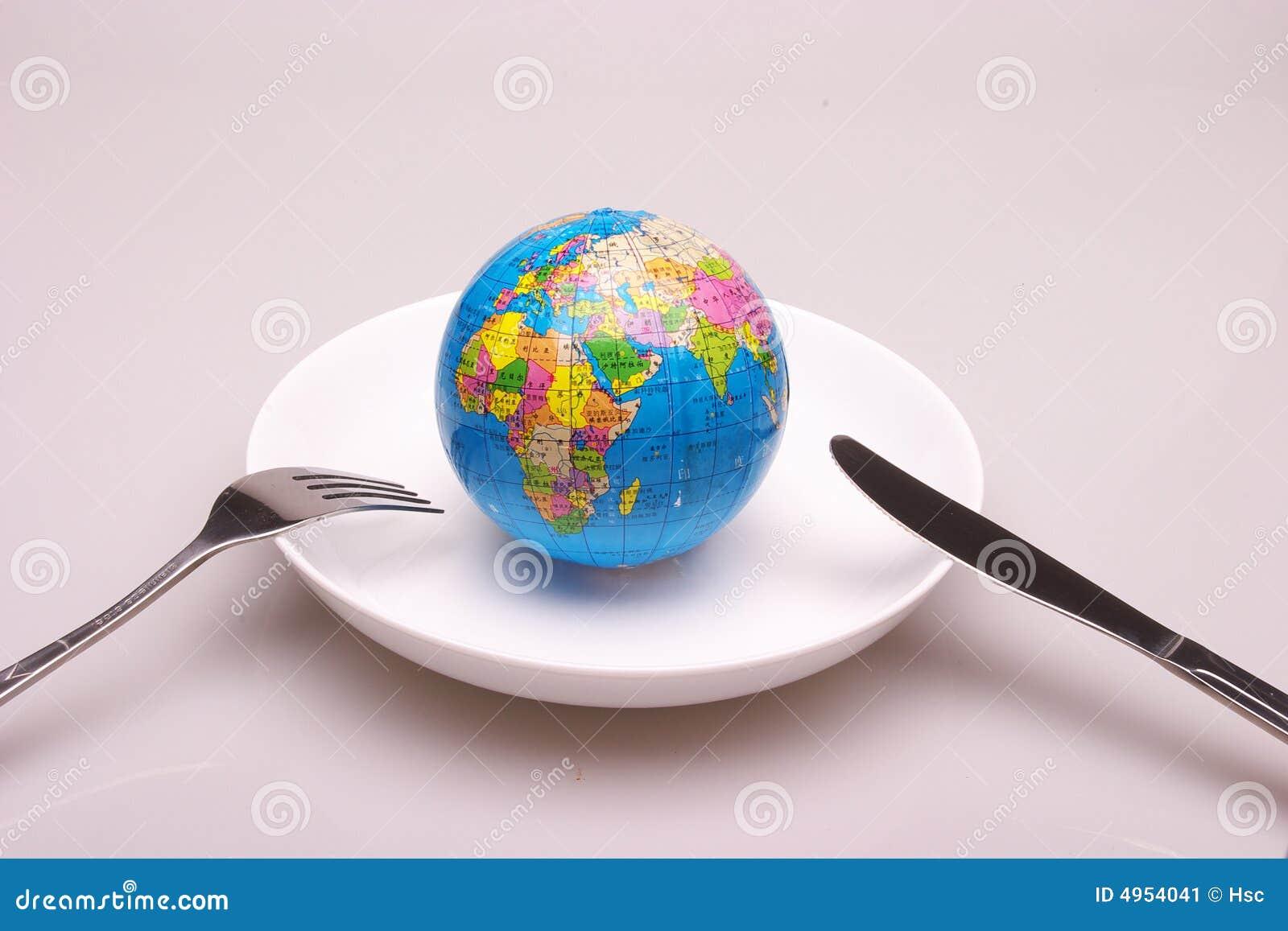 Un globo en plato