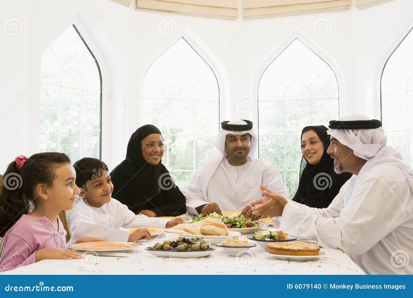 Un goce de Oriente Medio de la familia
