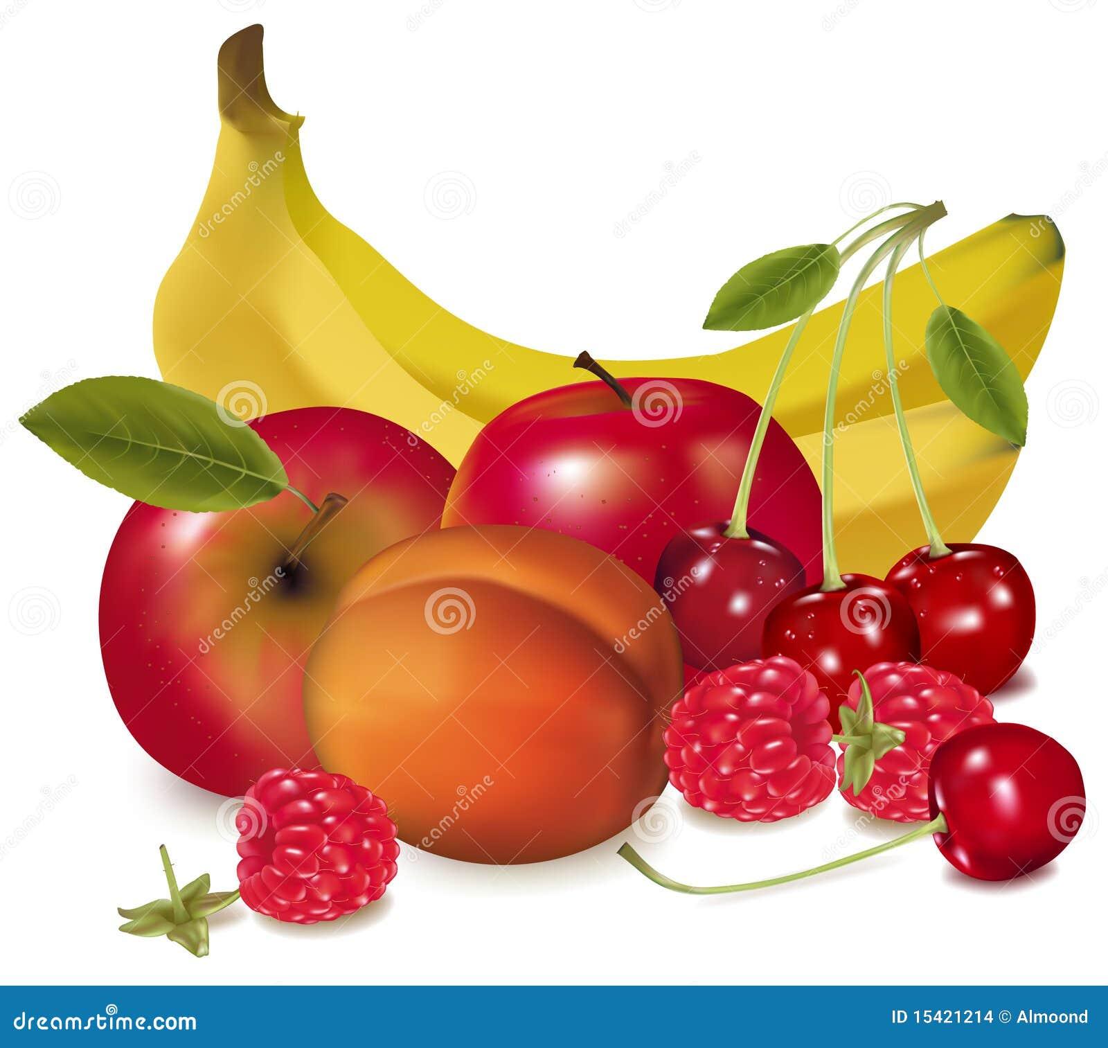 Un grupo de fruta.