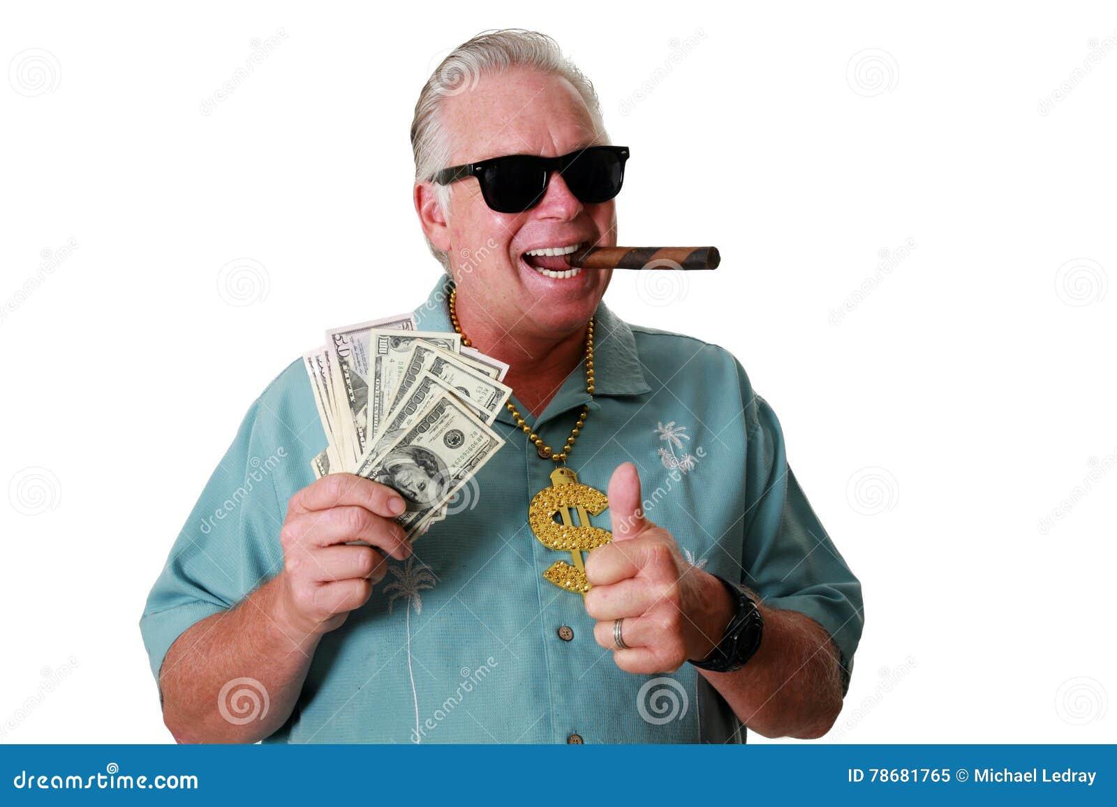 Un hombre con el dinero Un hombre gana el dinero Un hombre tiene dinero Un hombre huele el dinero Un hombre ama el dinero Un homb