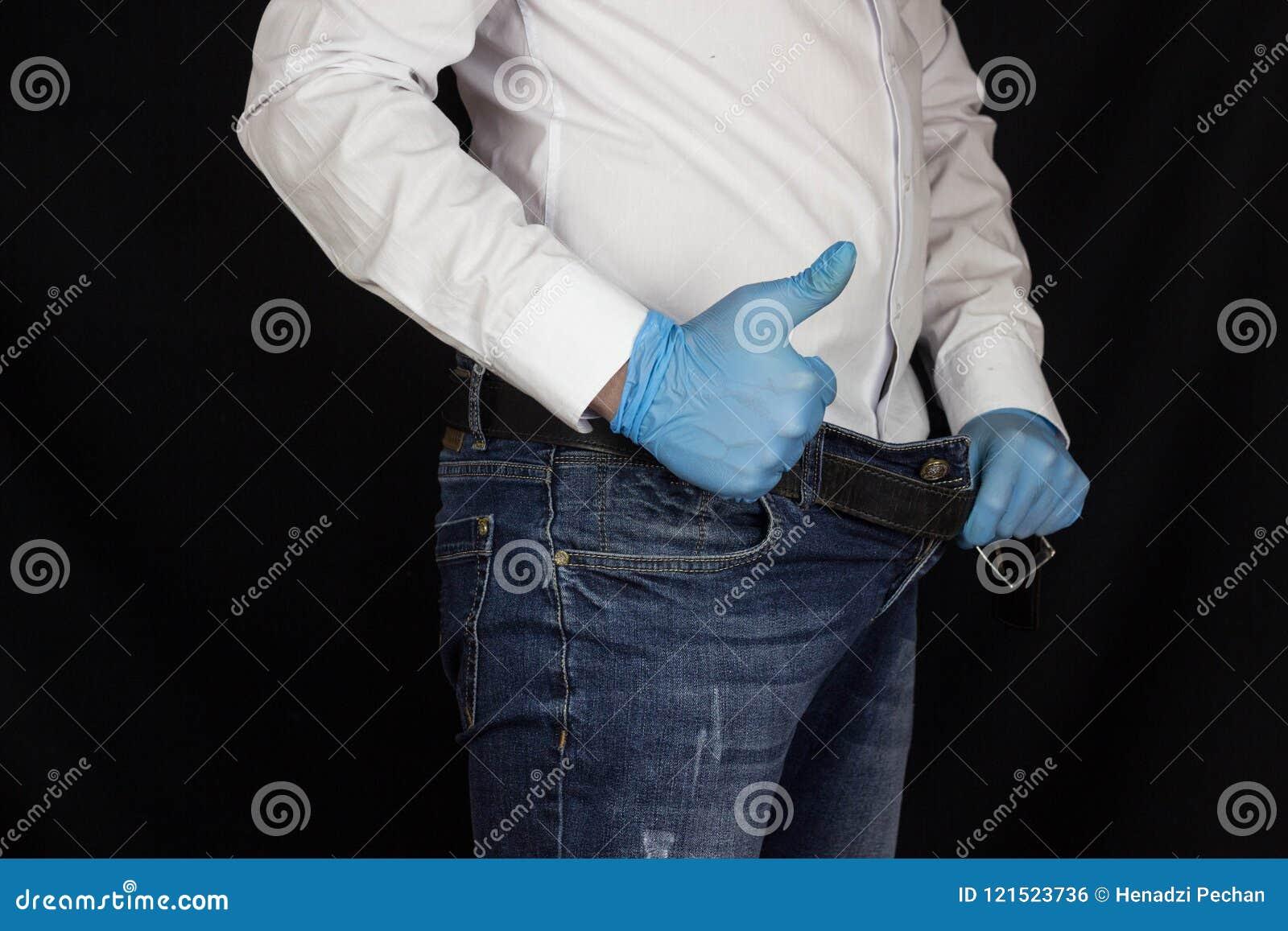 erección con pantalones