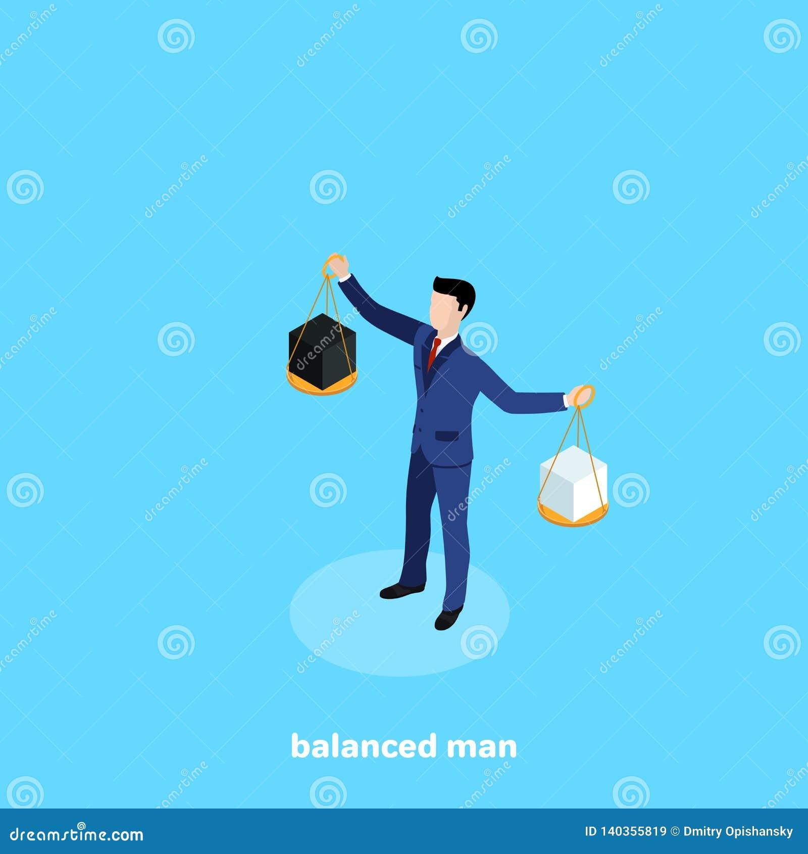 Un homme dans un costume tenant une cuvette des ?chelles