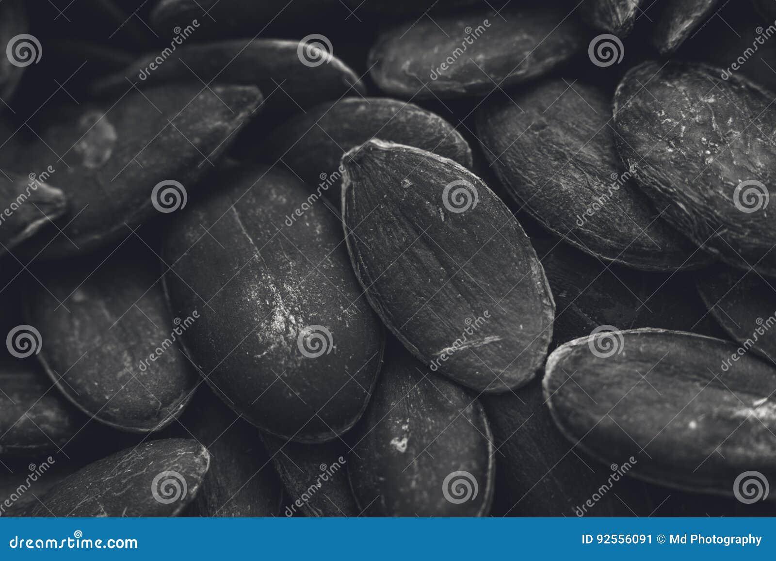 Un immagine in bianco e nero di struttura del fondo dei semi di zucca