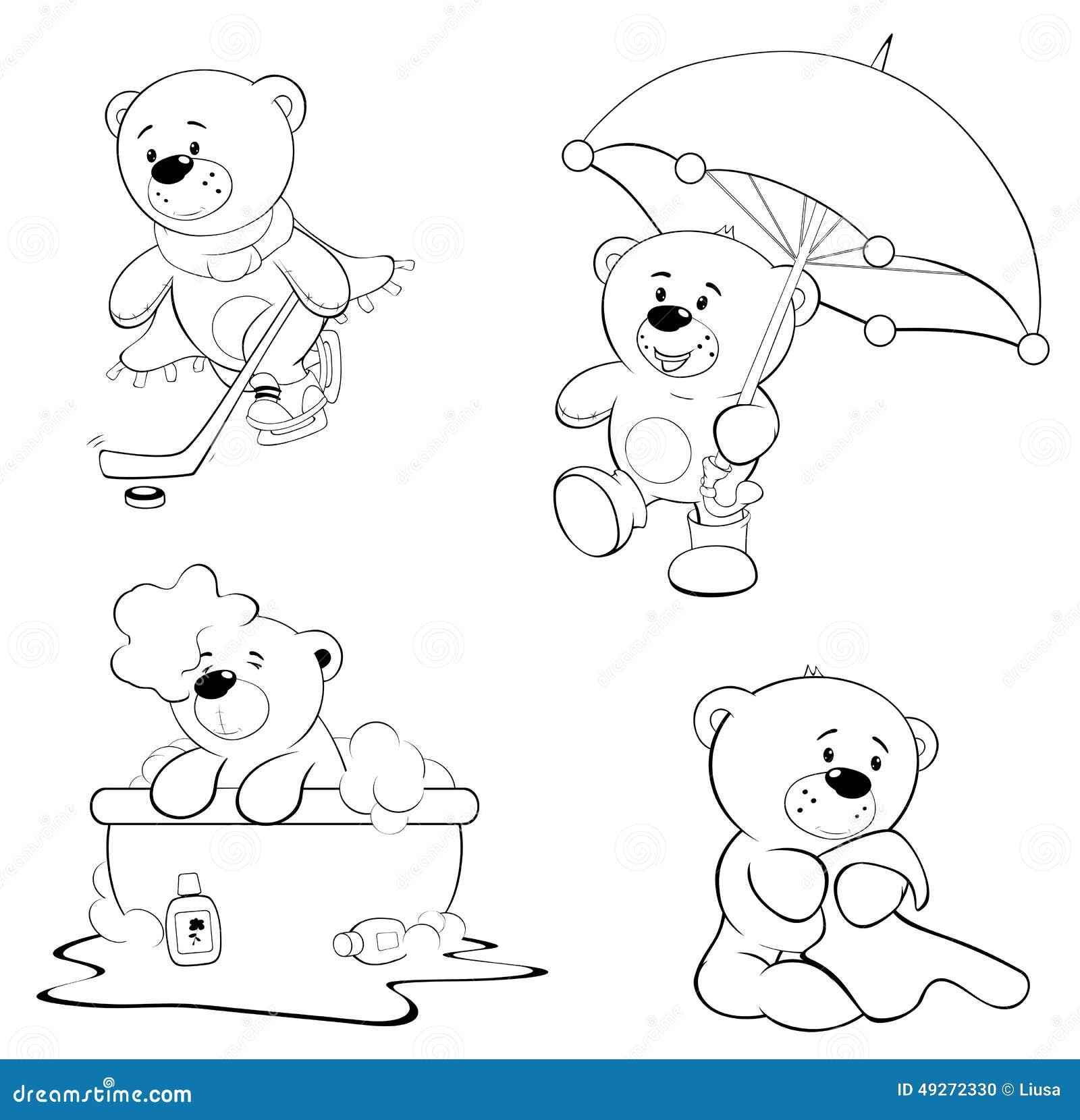 Un insieme degli orsi Libro di coloritura