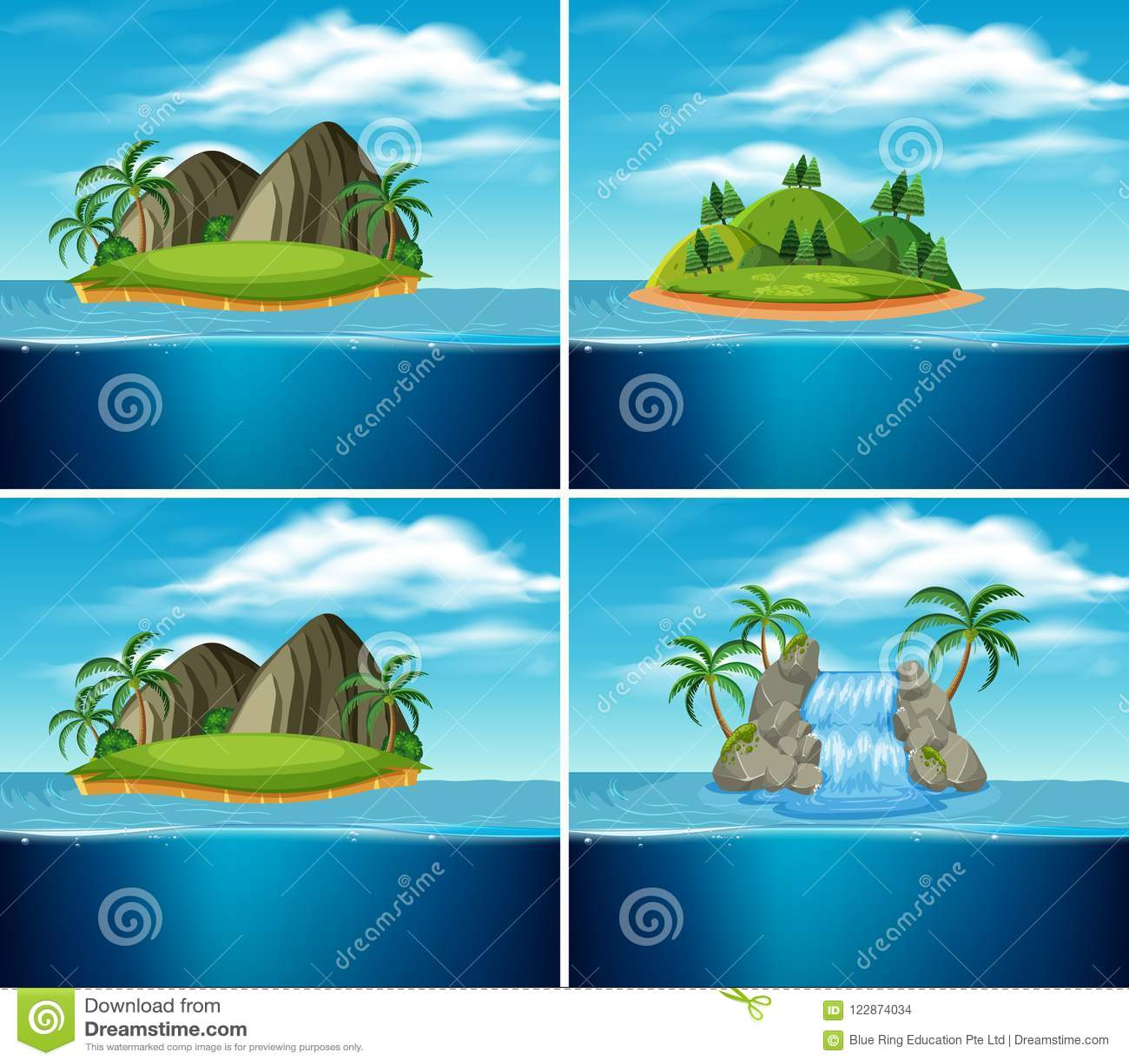 Un insieme dell isola di paradiso