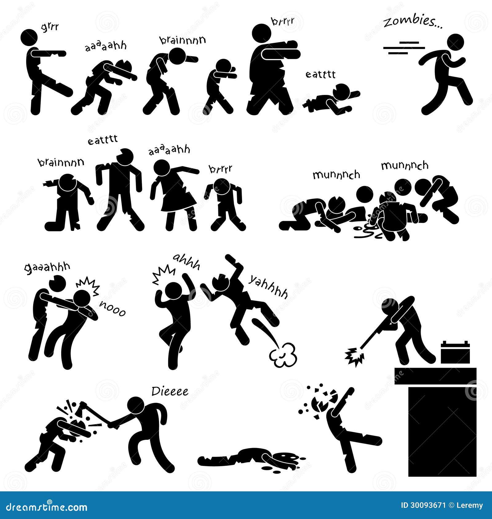 Pittogramma di attacco dei Undead delle zombie