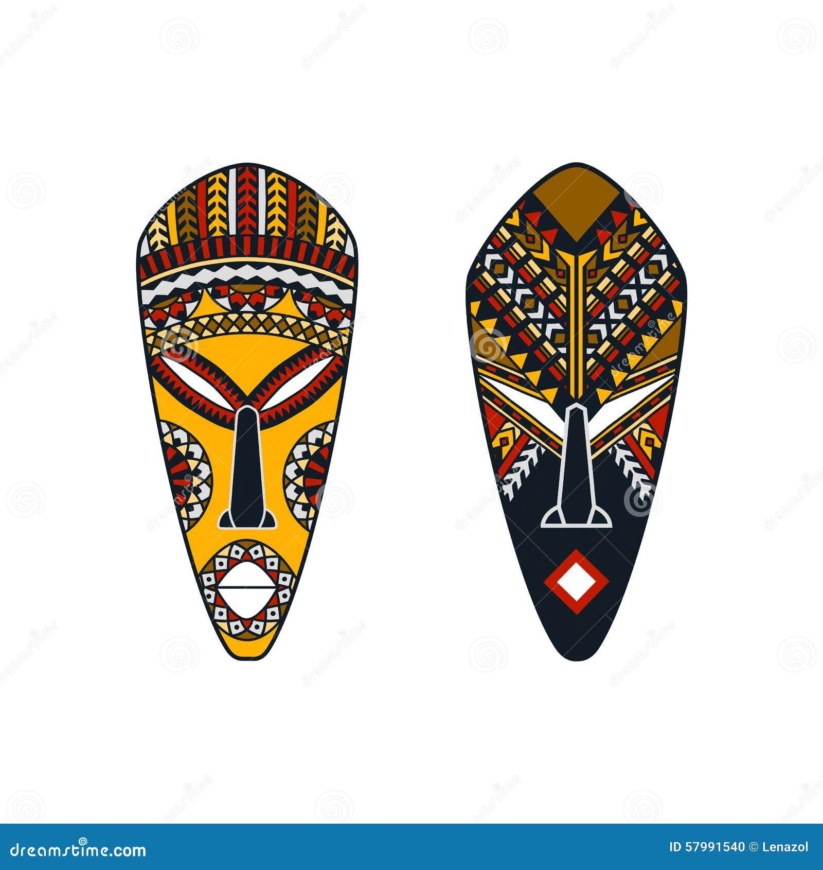 Un insieme di due maschere africane dell 39 uomo e della for Planimetrie della caverna dell uomo