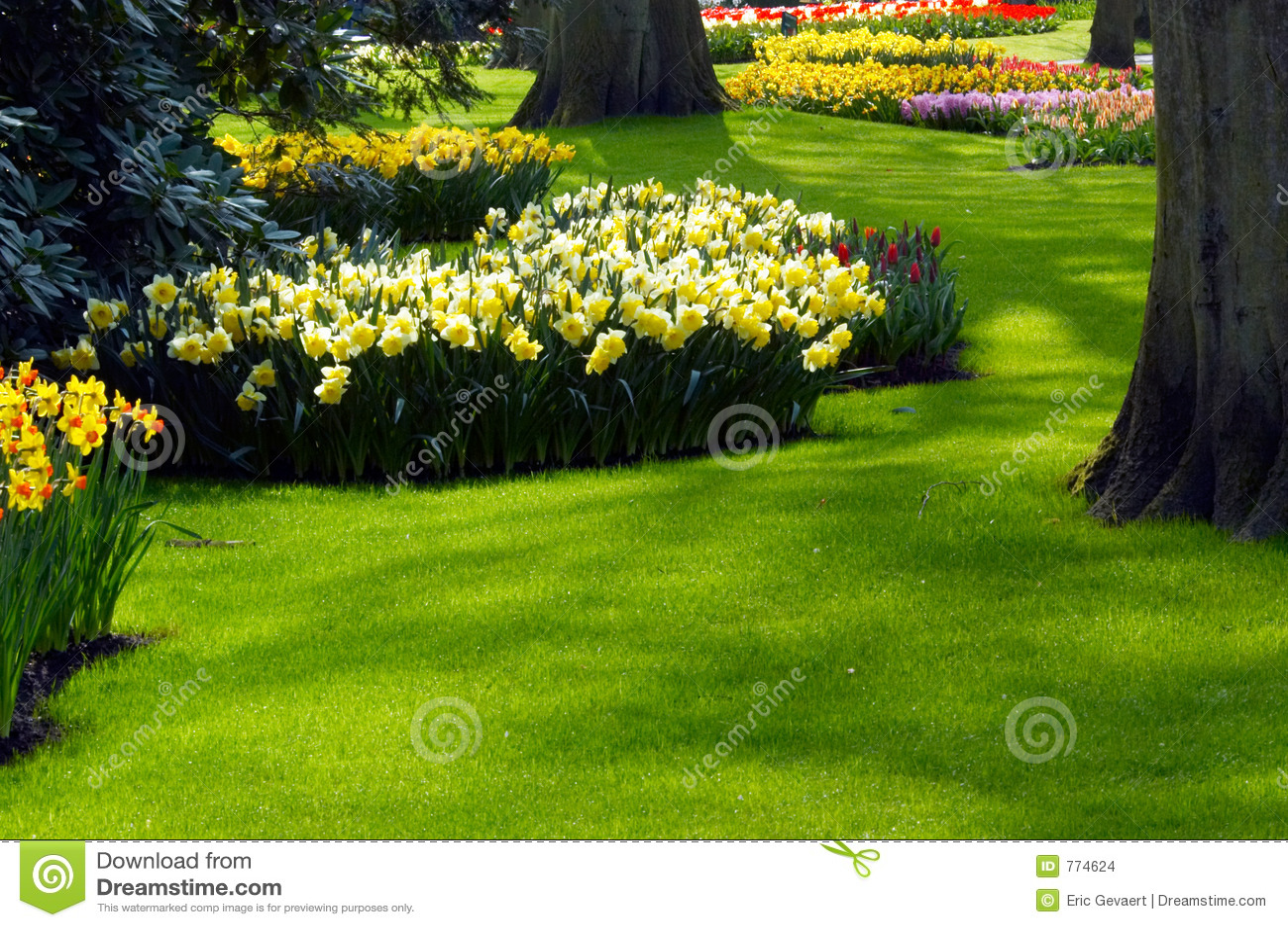 Un jardín en resorte