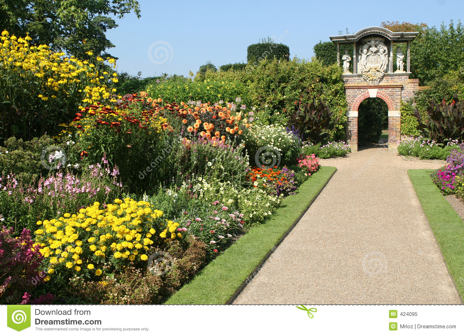 Un jardín inglés del país