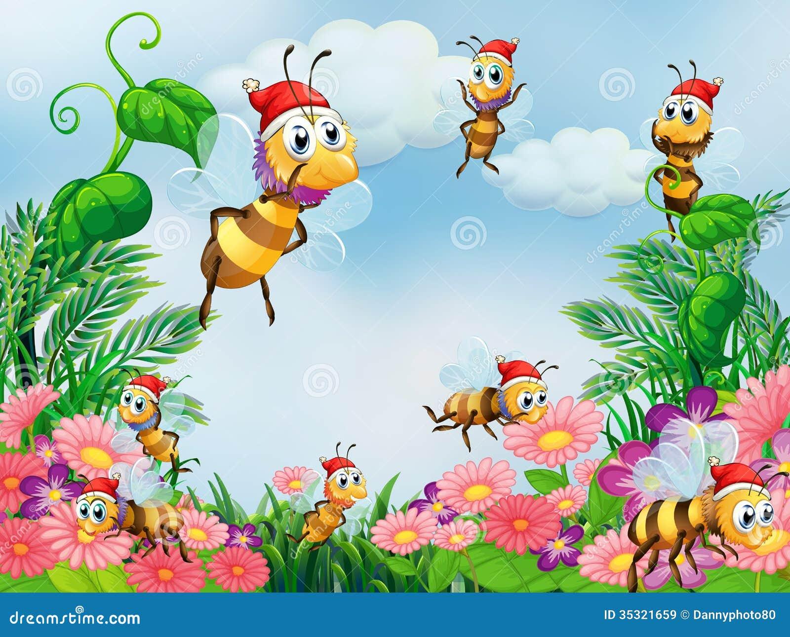 Un jard n con las abejas im genes de archivo libres de for Ahuyentar abejas jardin