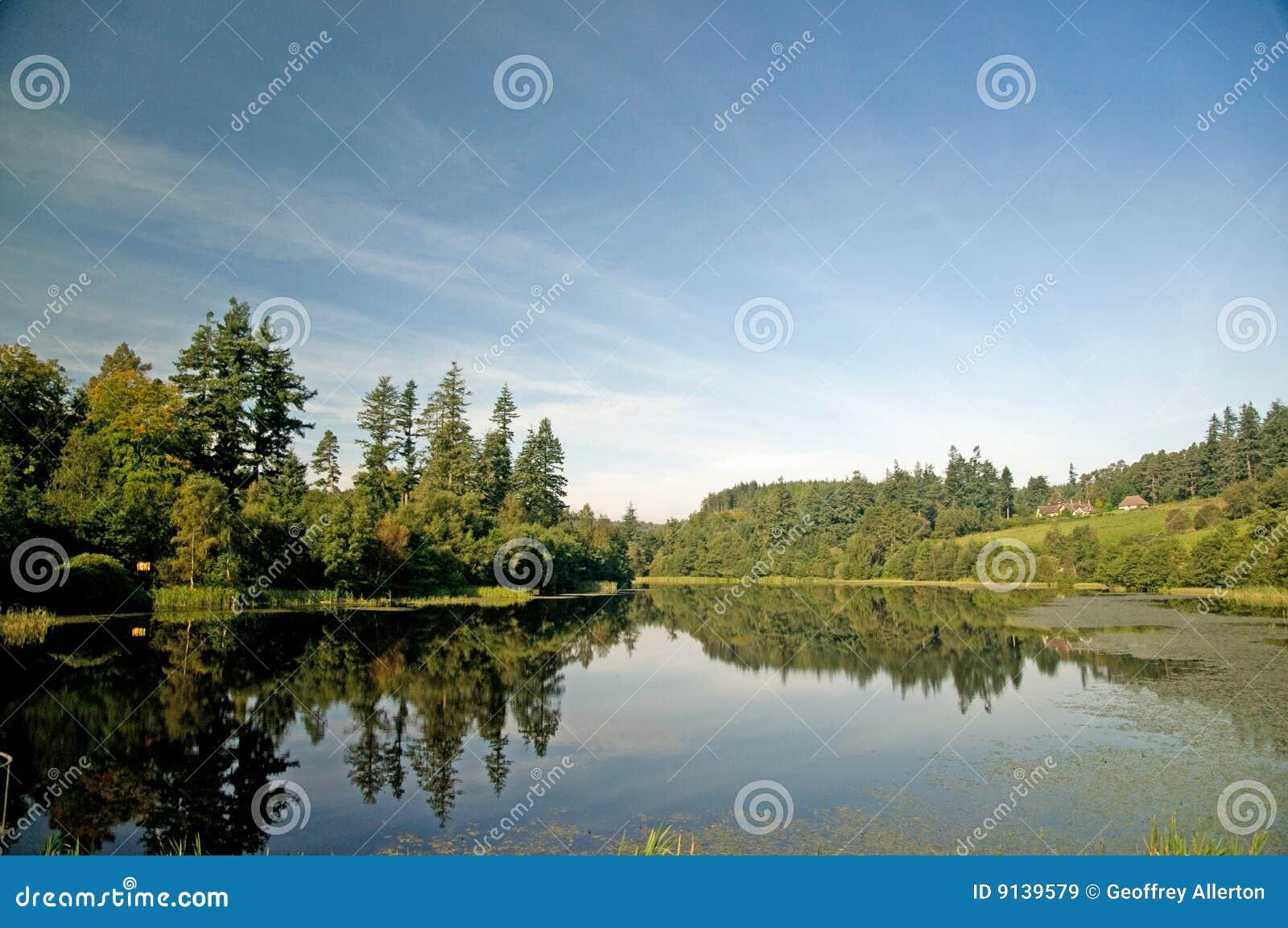 Un lago en Northumberland