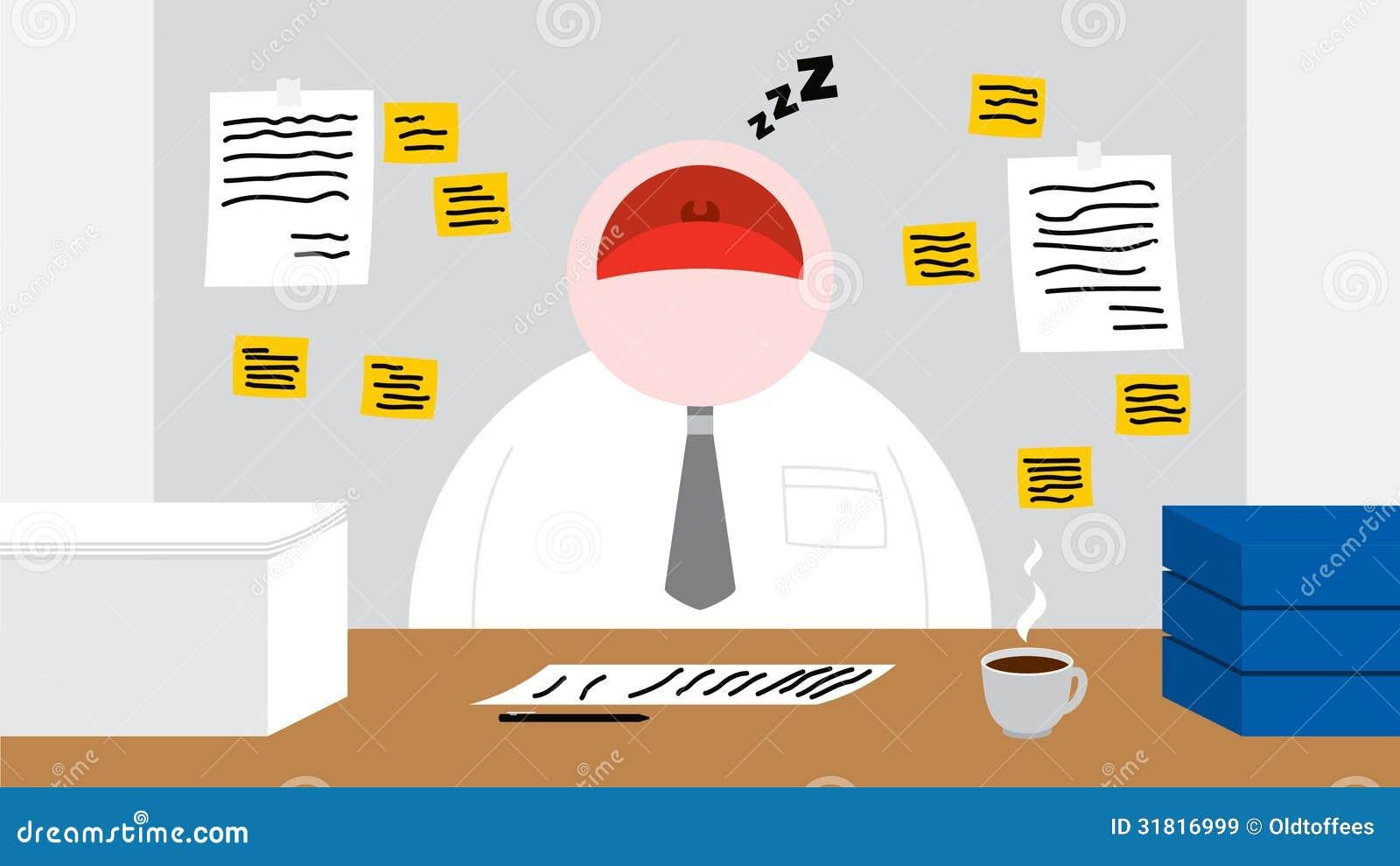 Un lavoratore che dorme nella sua stanza dell 39 ufficio for Stanza uso ufficio