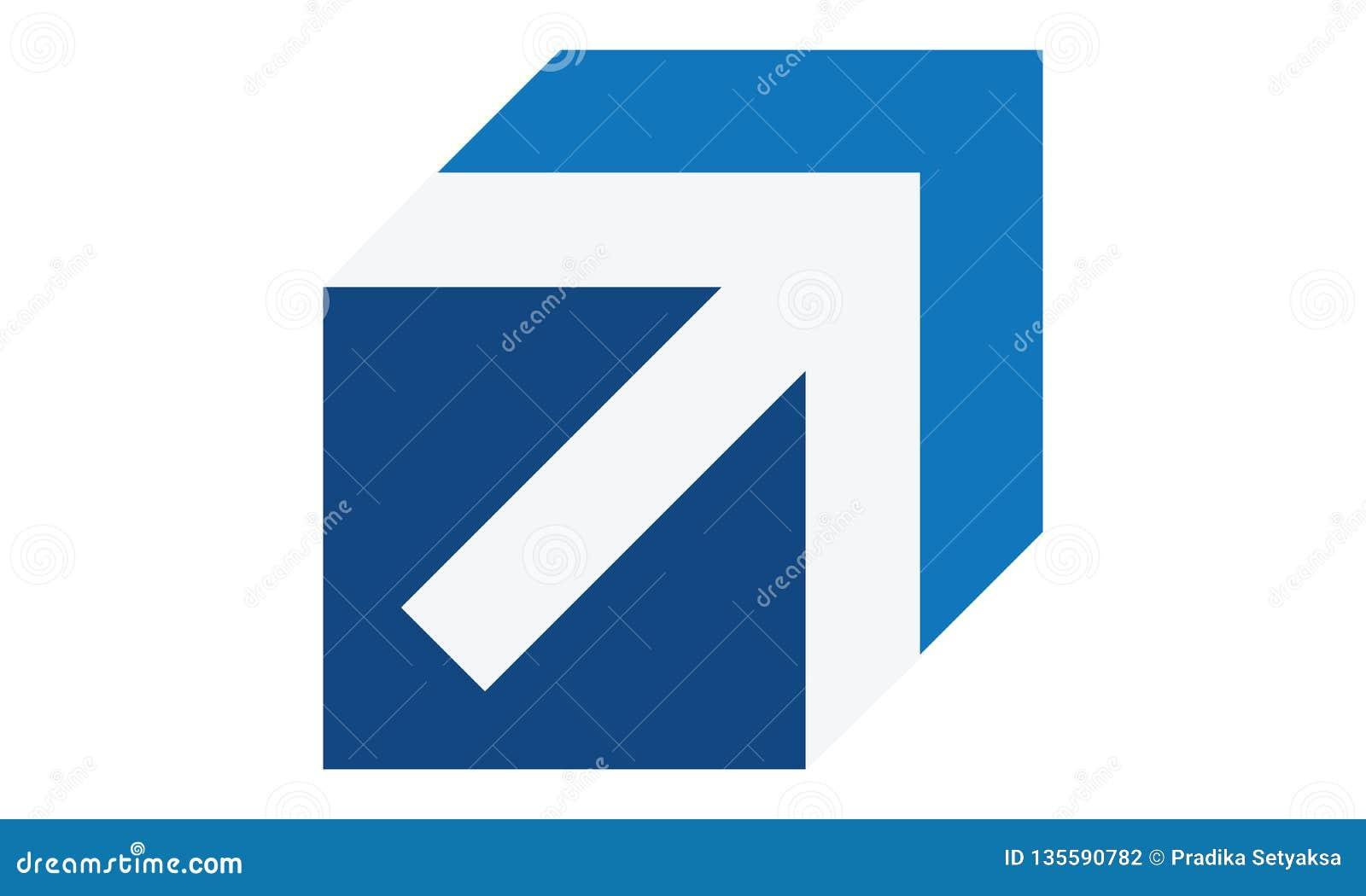 Un logo de flèche d affaires dans la couleur bleue