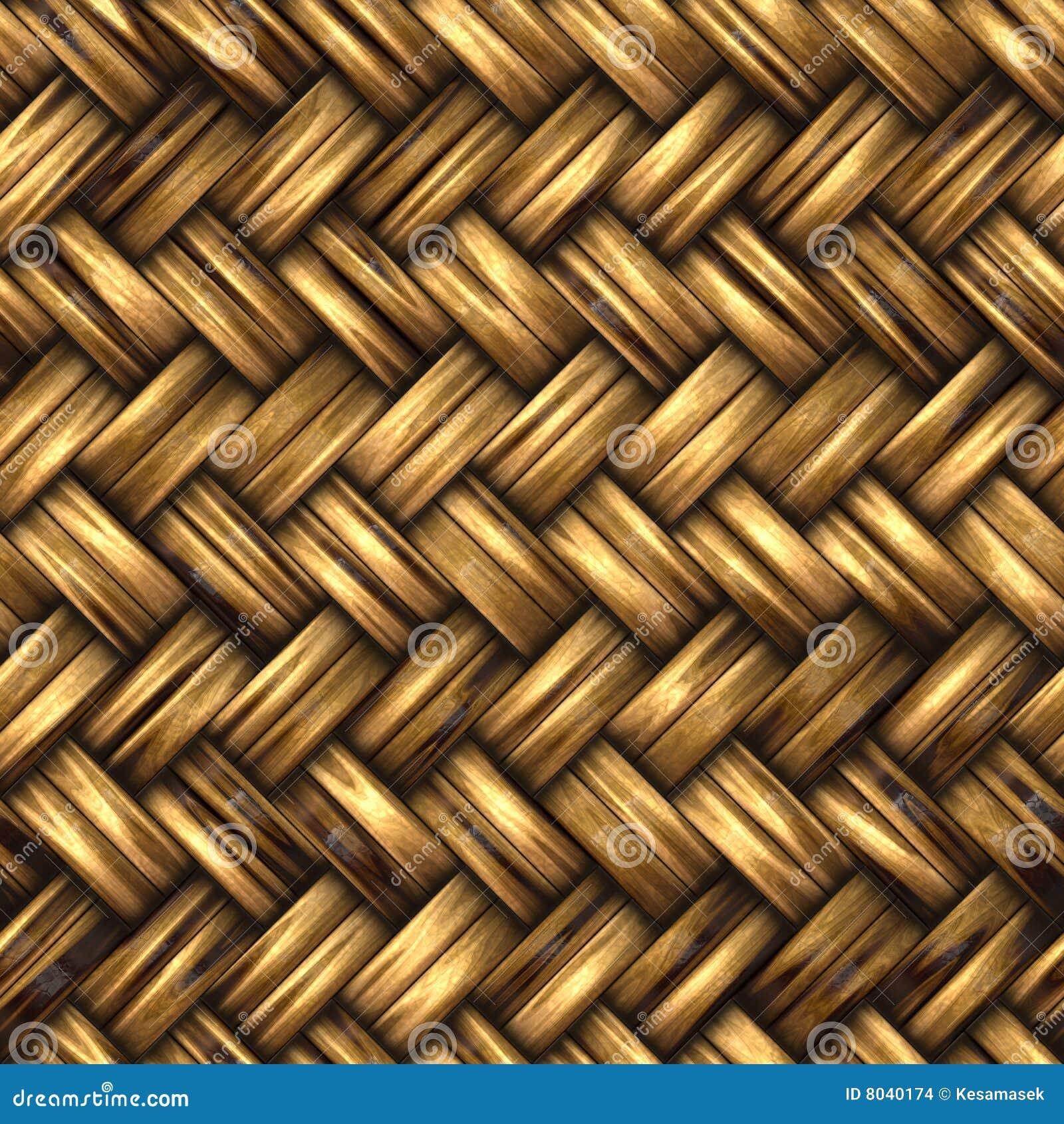 Un material de mimbre tejido