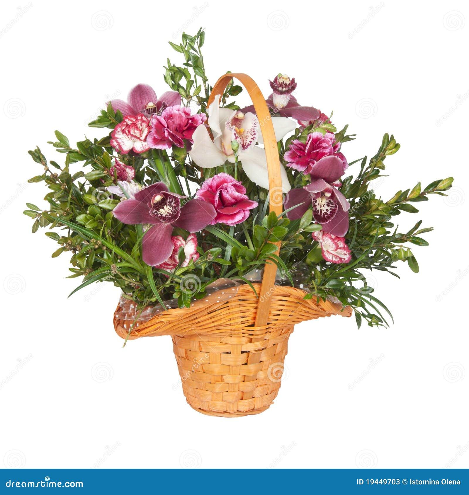 Un mazzo dei fiori in un cestino immagine stock immagine for Costruire un mazzo di portico