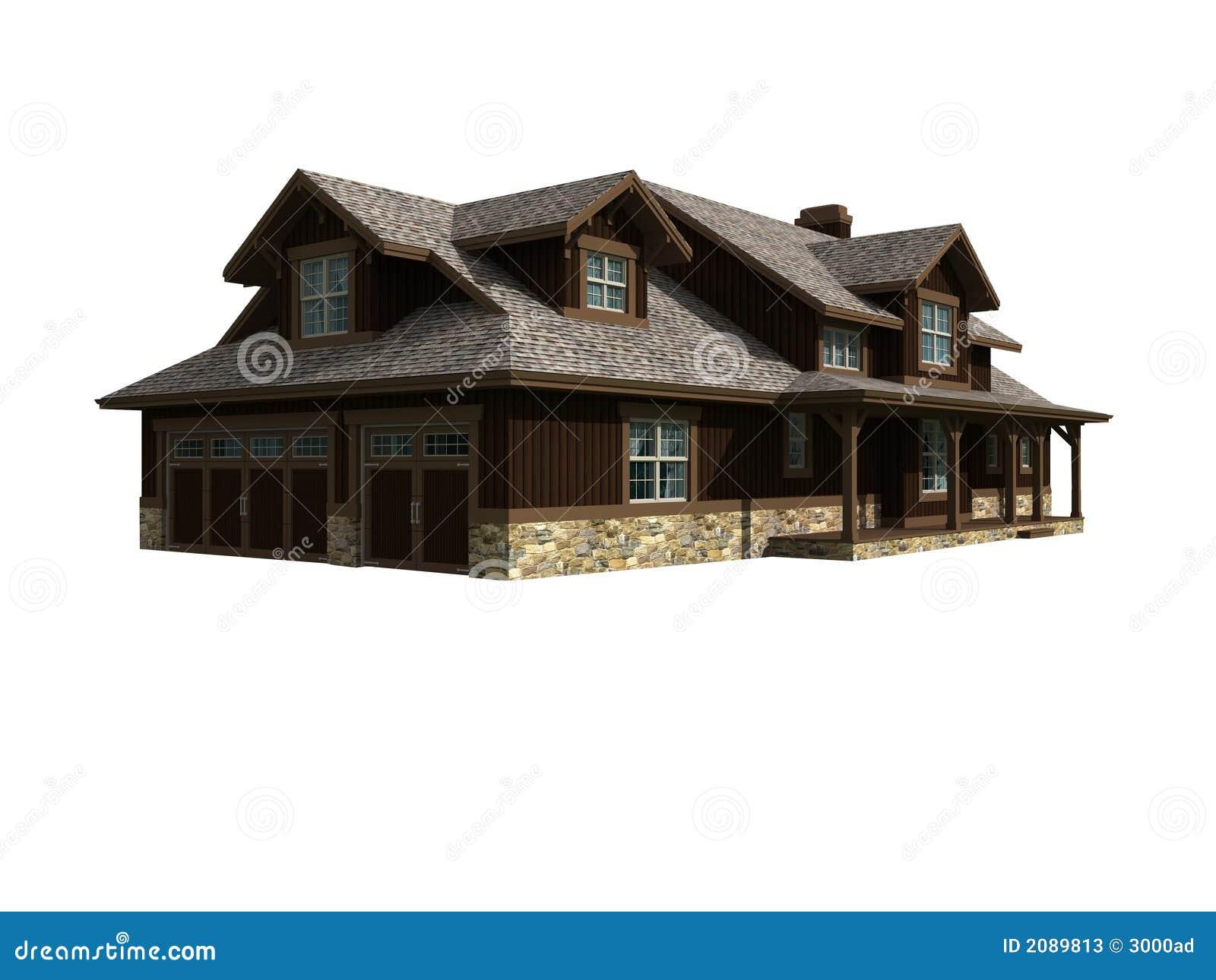 Un modello 3d di una casa livellata illustrazione di stock for Modello di casa