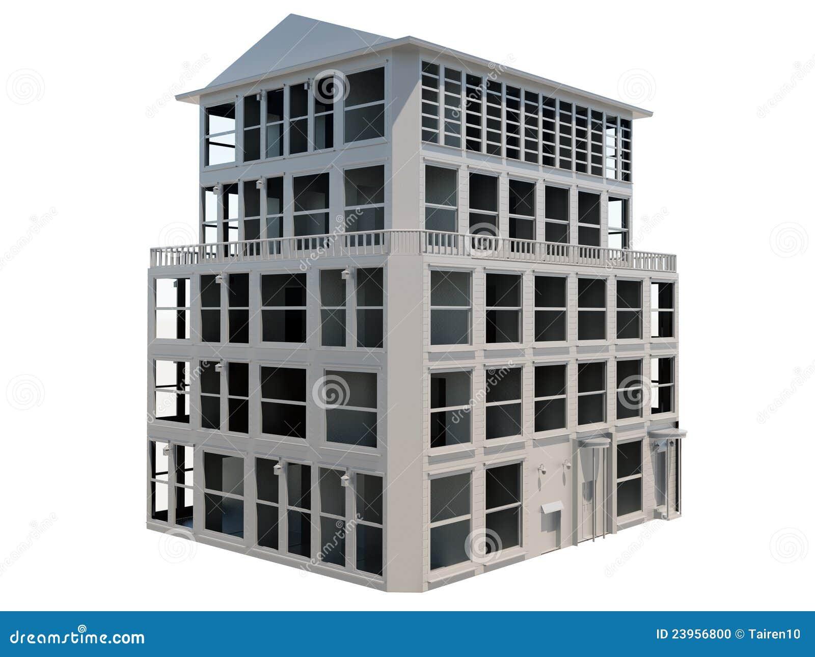 Un modello astratto di una costruzione dei cinque piani for Piani casa dei caraibi