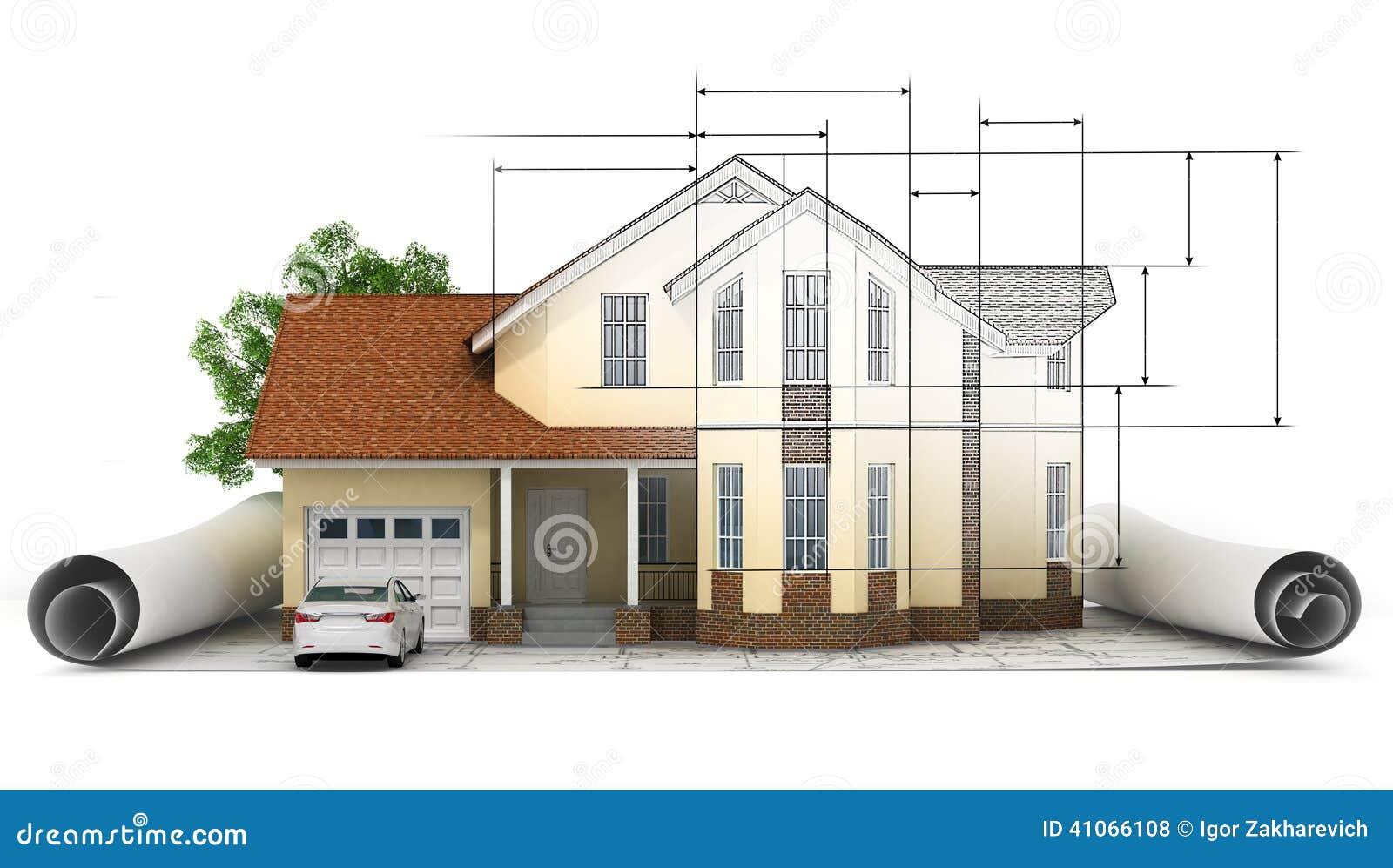 Un modello stilizzato della casa con la pianta il for Creatore della pianta della casa