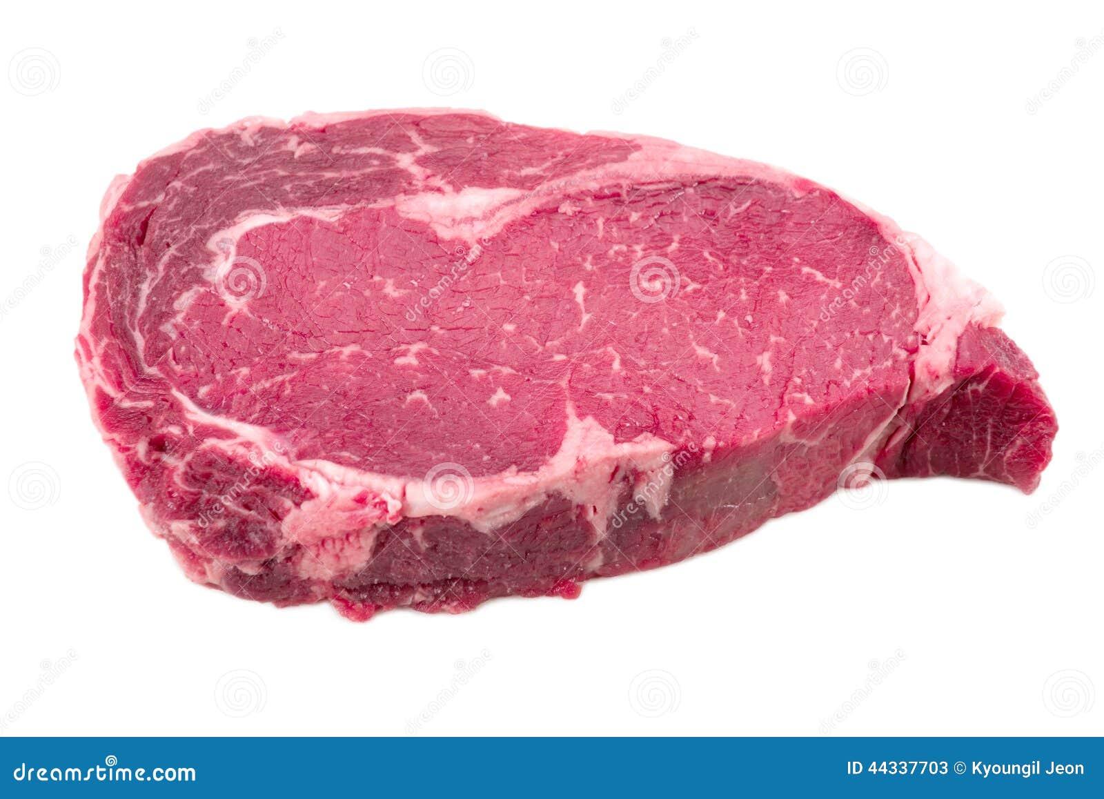 Un morceau de c t de boeuf de viande image stock image - Cuisiner du boeuf en morceaux ...
