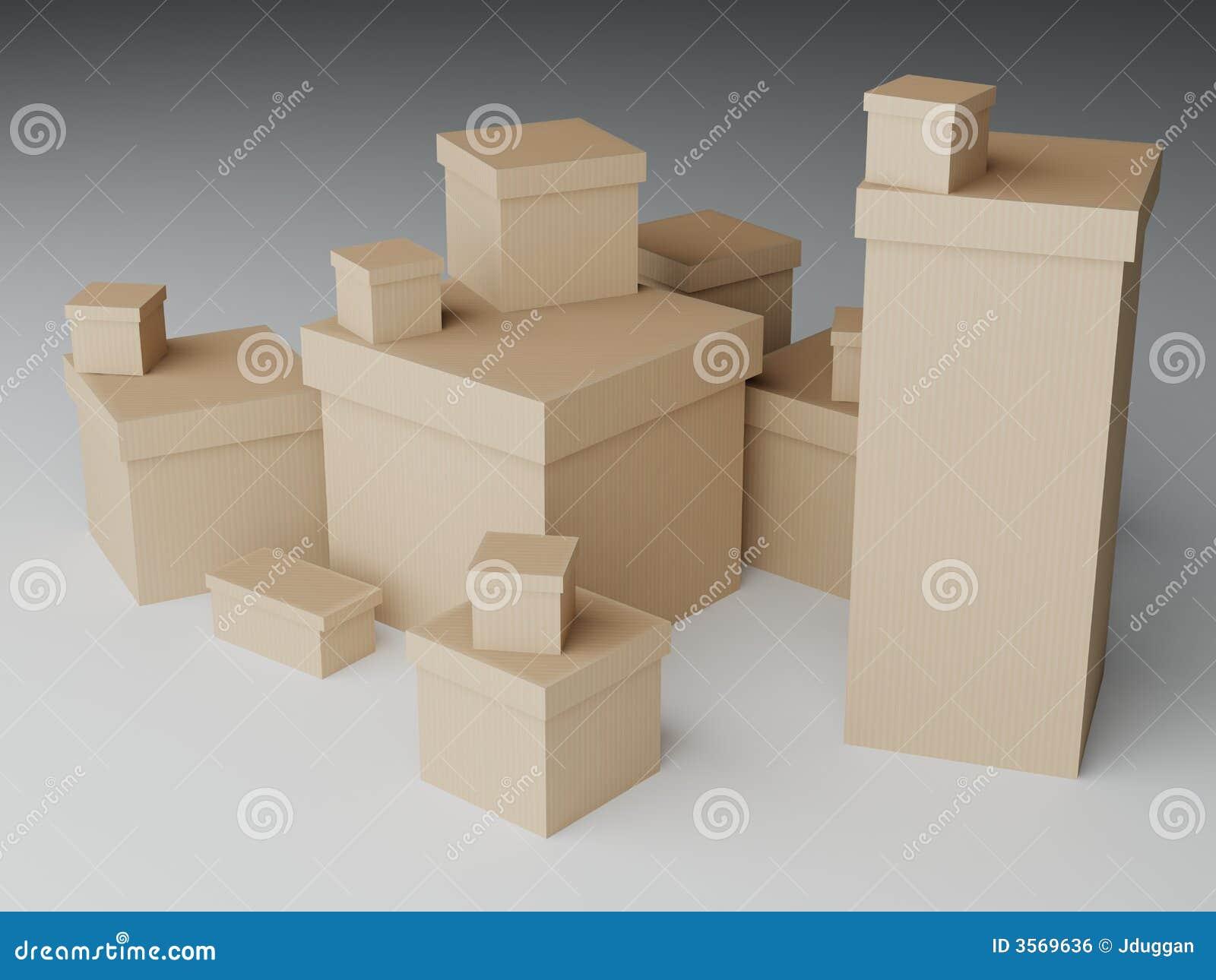 Un mucchio delle scatole di cartone