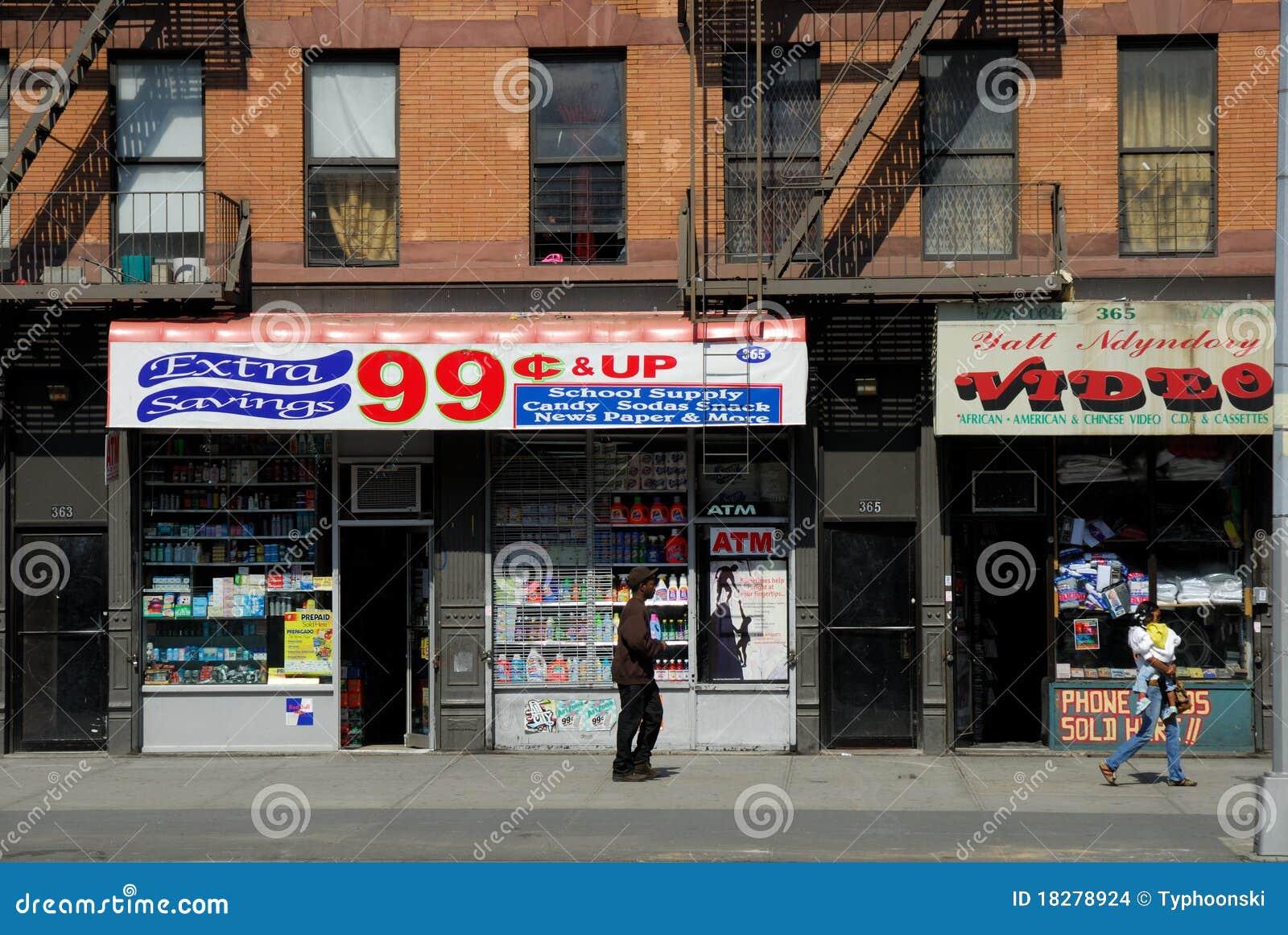 Un Negozio Dai 99 Centesimi New York