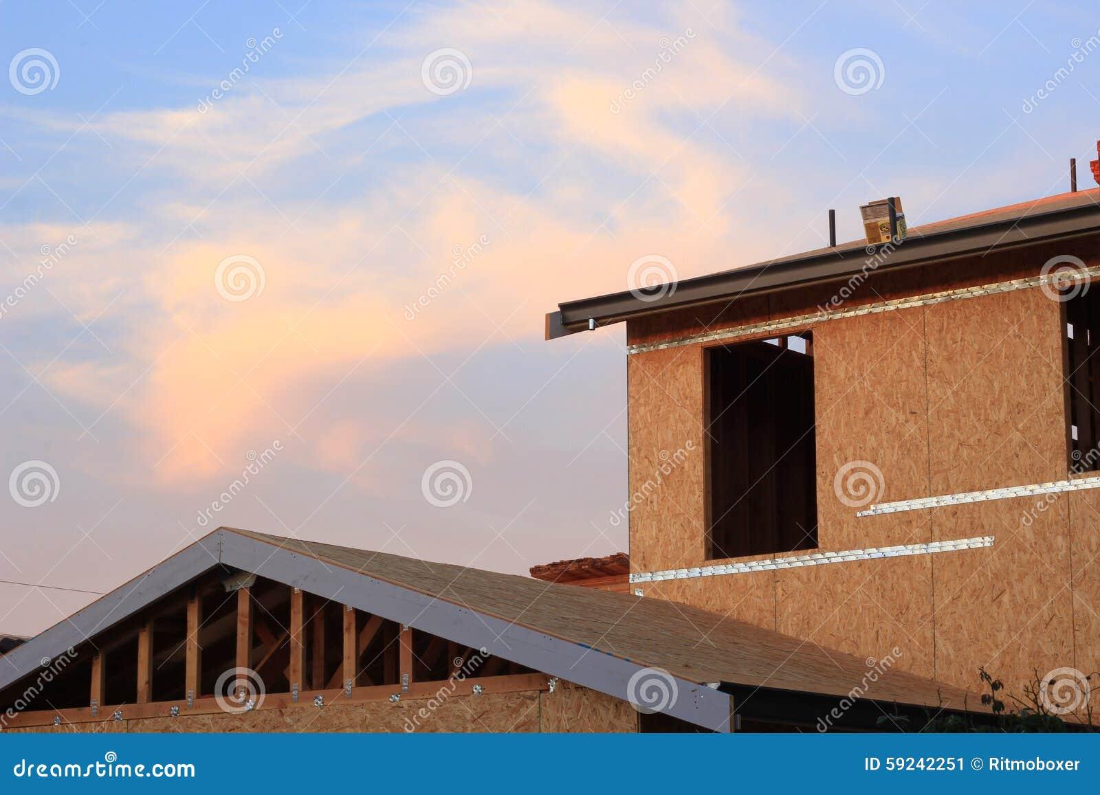 Download Un Nuevo Hogar Bajo Construcción Imagen de archivo - Imagen de erección, estado: 59242251