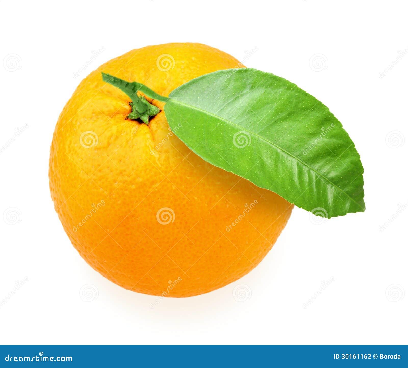 orange fruit avec la feuille verte photographie stock image 30161162. Black Bedroom Furniture Sets. Home Design Ideas