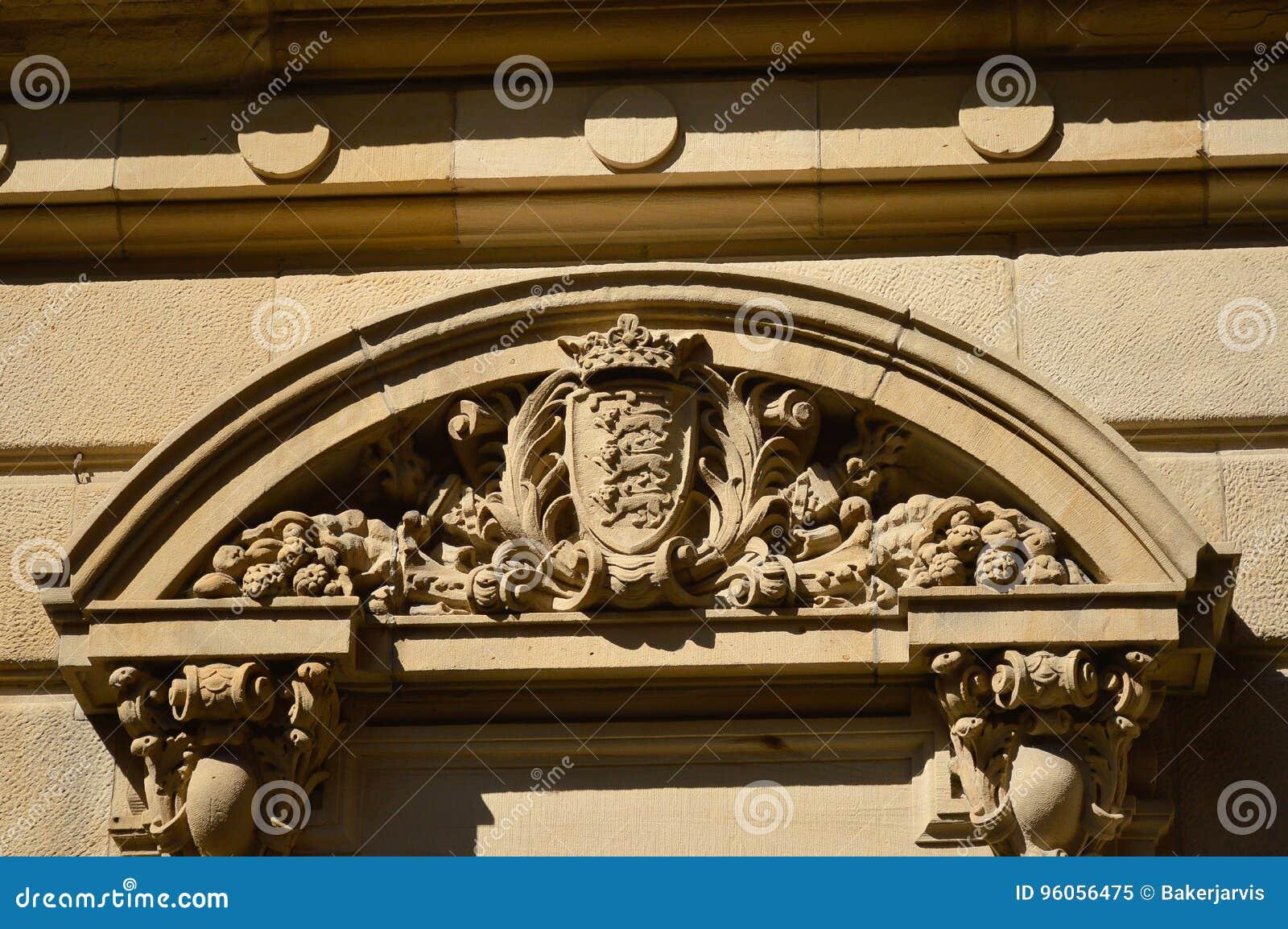 Un ornement du vieux bâtiment historique