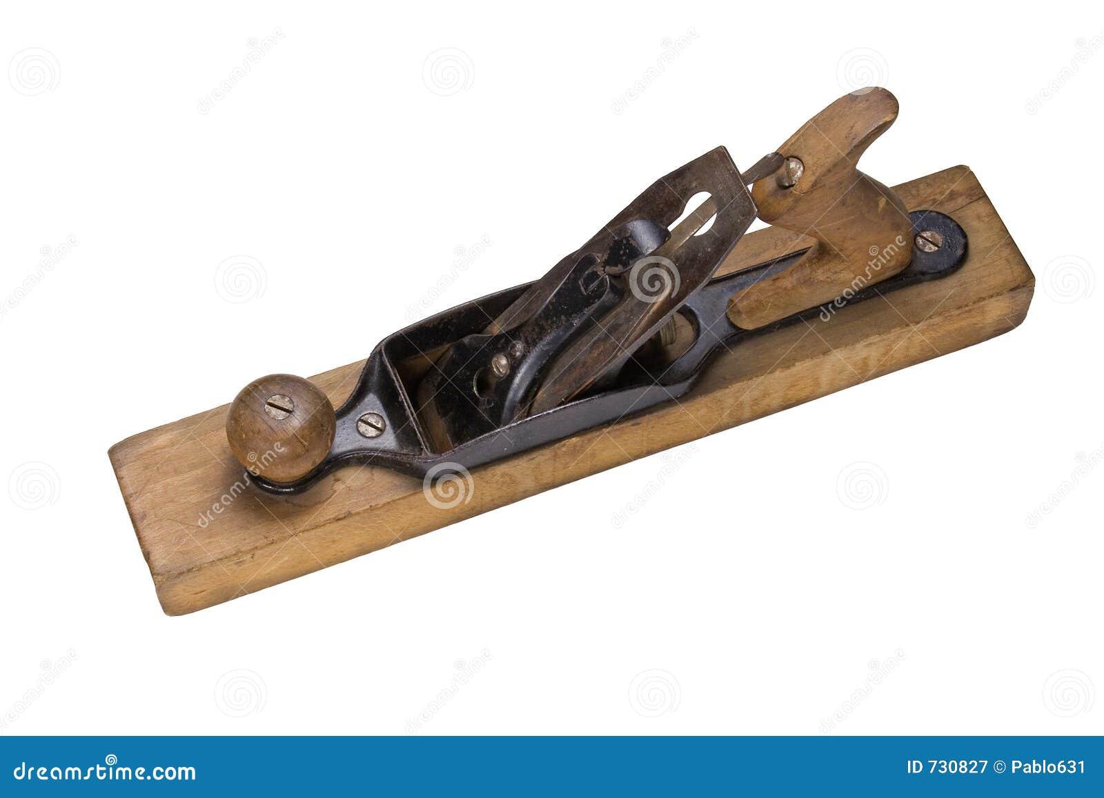 Un outil manuel en bois antique d avion de fonctionnement