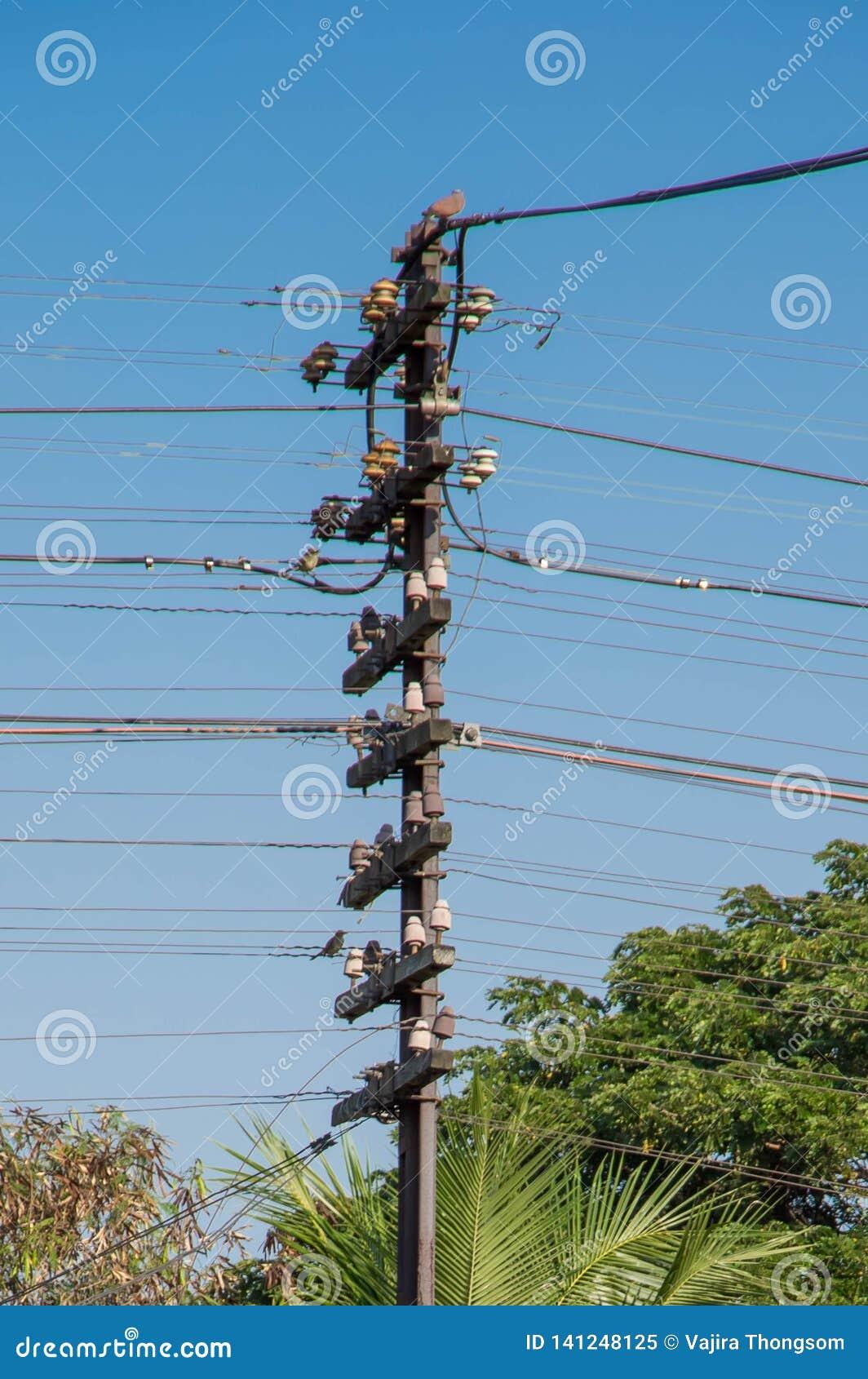 Un palo di telegrafo, ferrovia