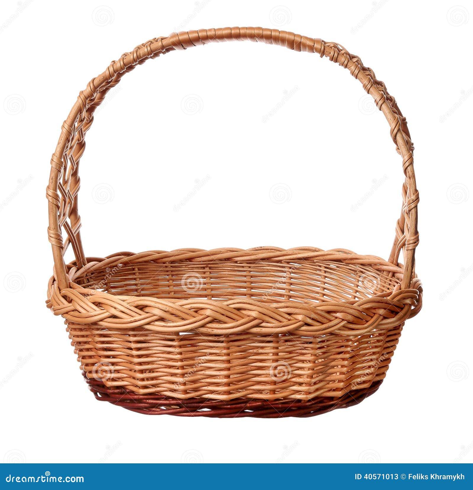 Un panier en osier avec la poign e photo stock image - Decorer un panier en osier ...