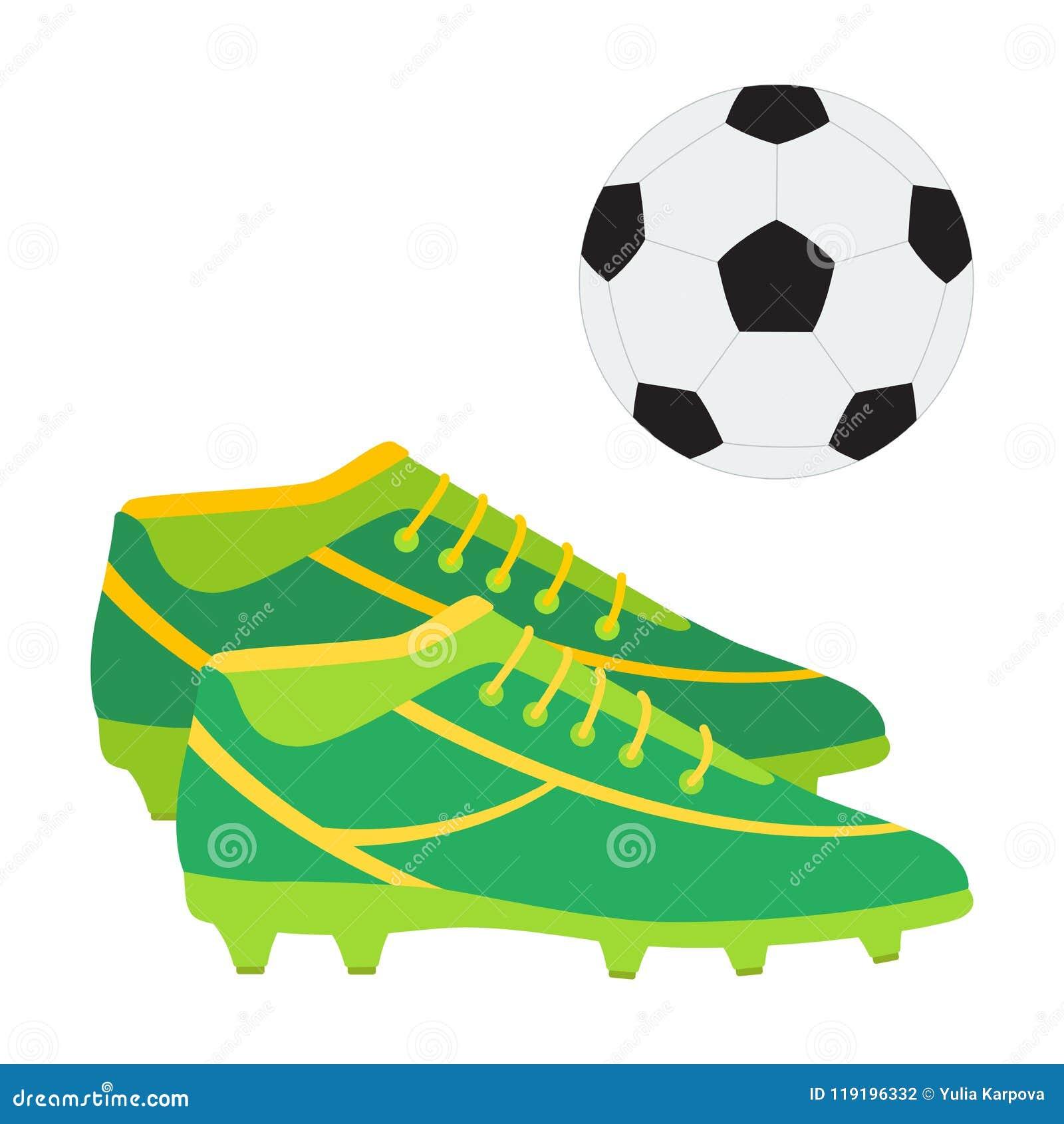 cf10429b3 Un par de botas del fútbol y de una bola El fútbol calza el ejemplo del  vector