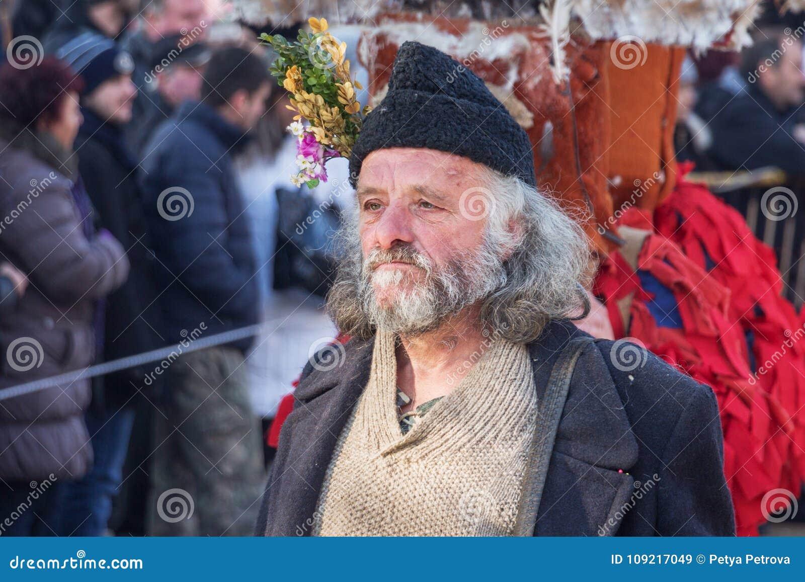Un participant au festival du ` de Surva de ` de jeux de mascarade
