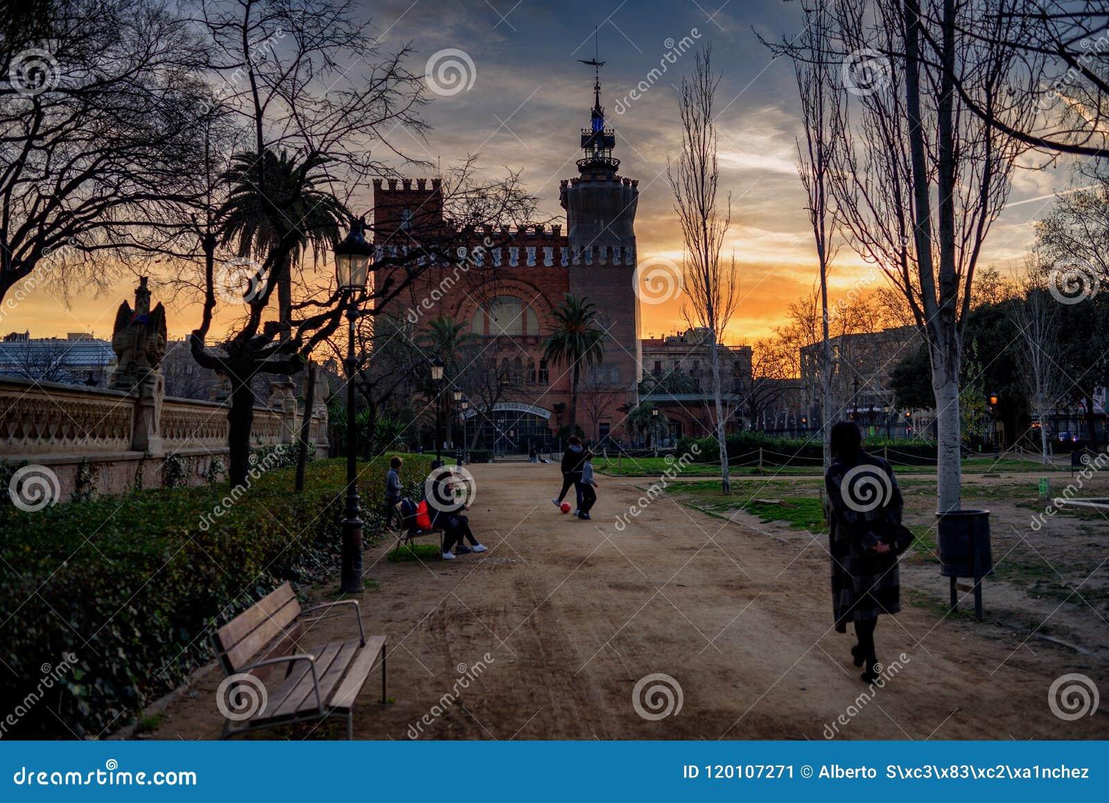 Un paseo en el parque Barcelona