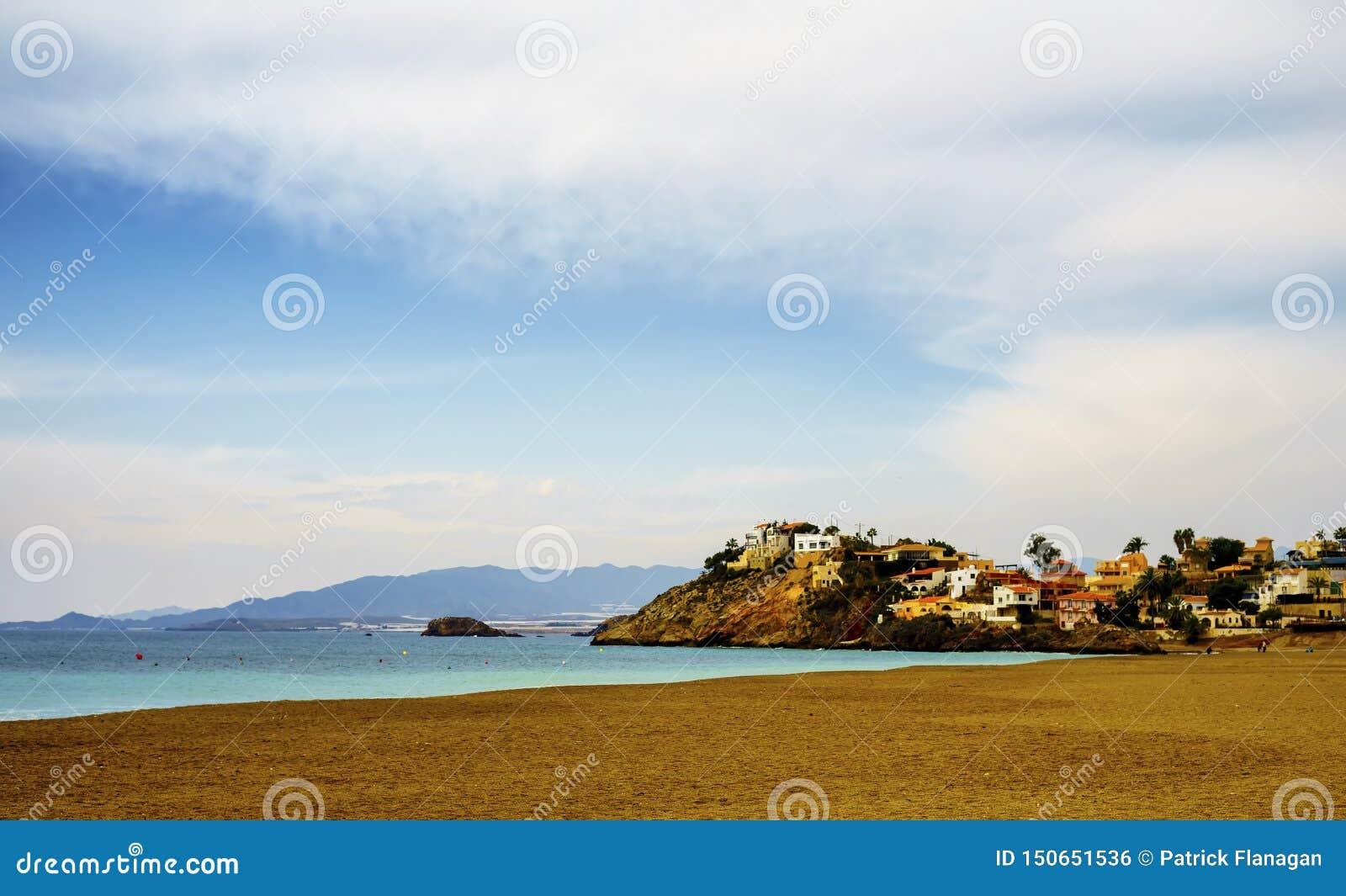 Un paysage marin de Bolnuevo, Murcie, Espagne