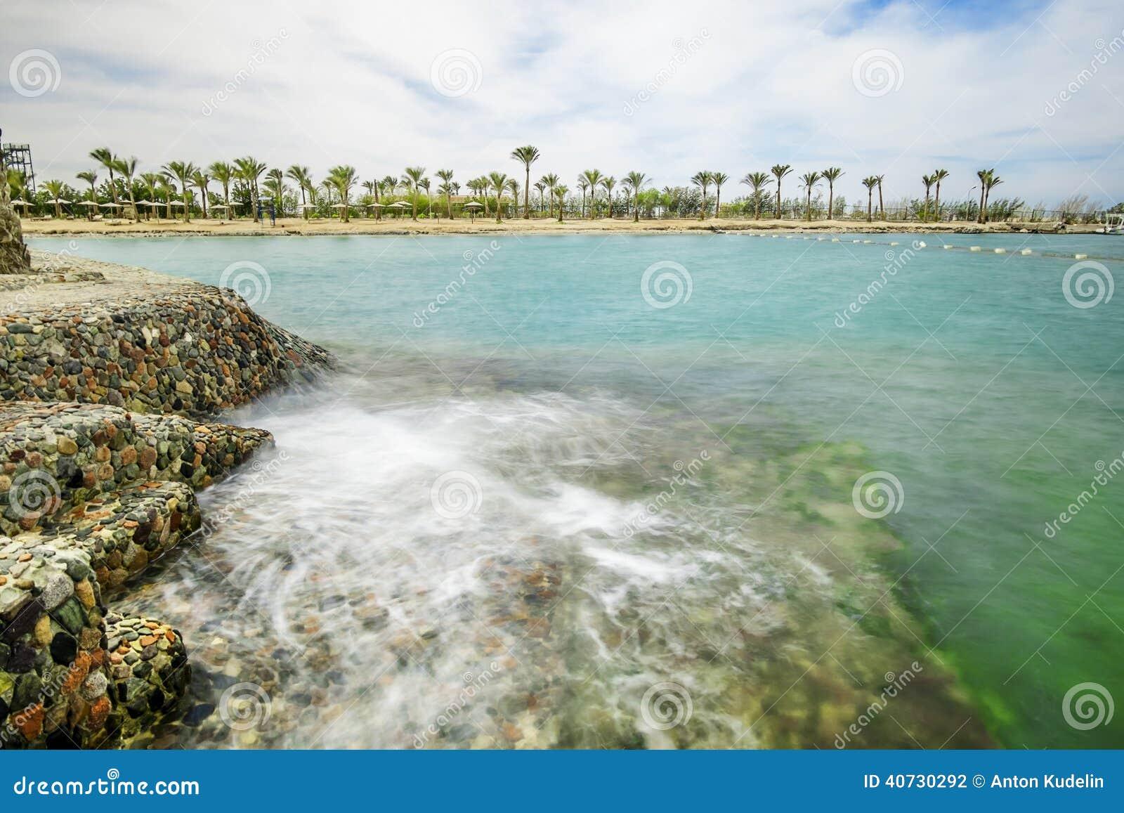 un paysage marin merveilleux vues de la mer et la plage photo stock image 40730292. Black Bedroom Furniture Sets. Home Design Ideas