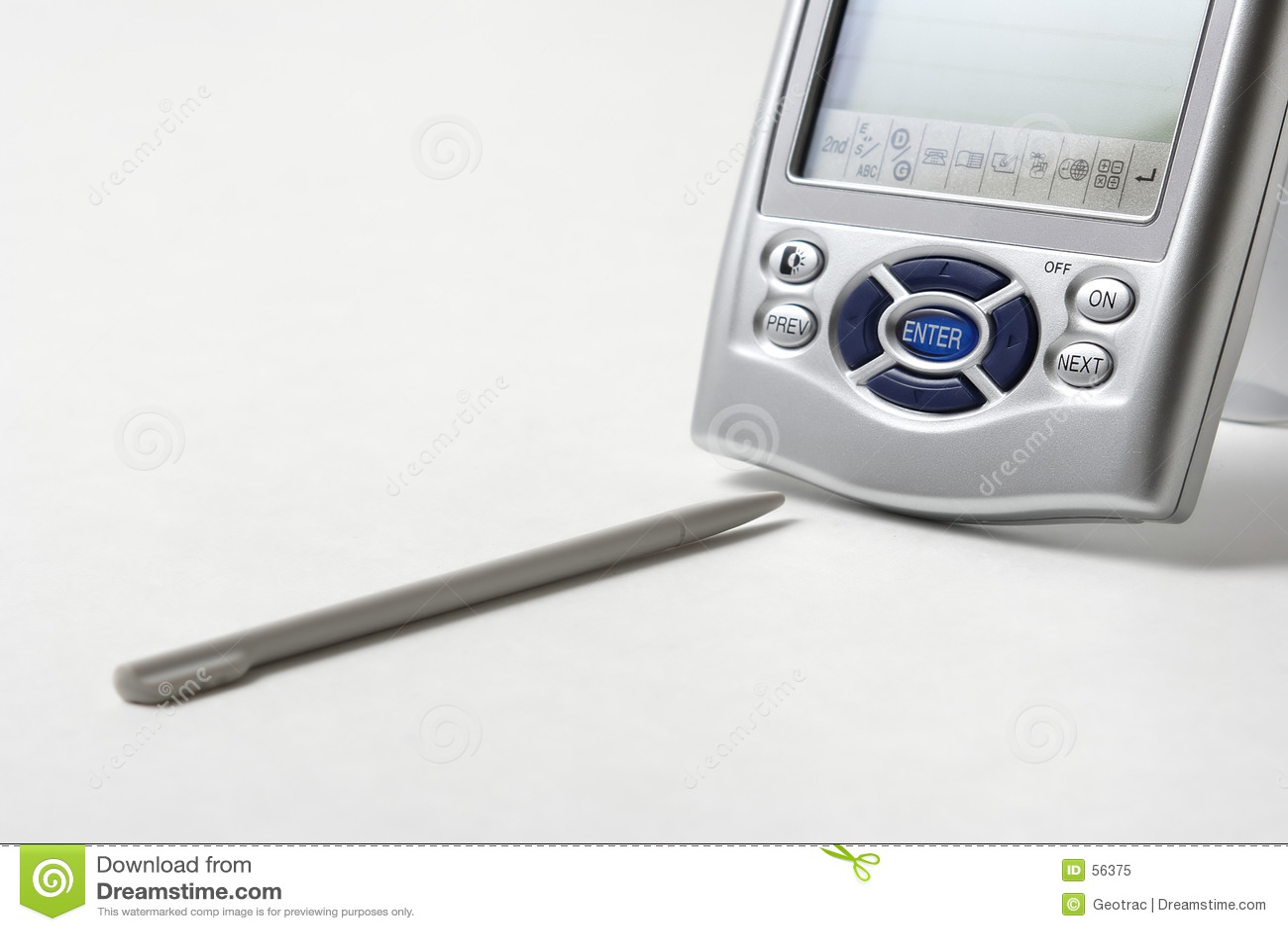 Download UN PDA immagine stock. Immagine di annoti, grigio, assistente - 56375