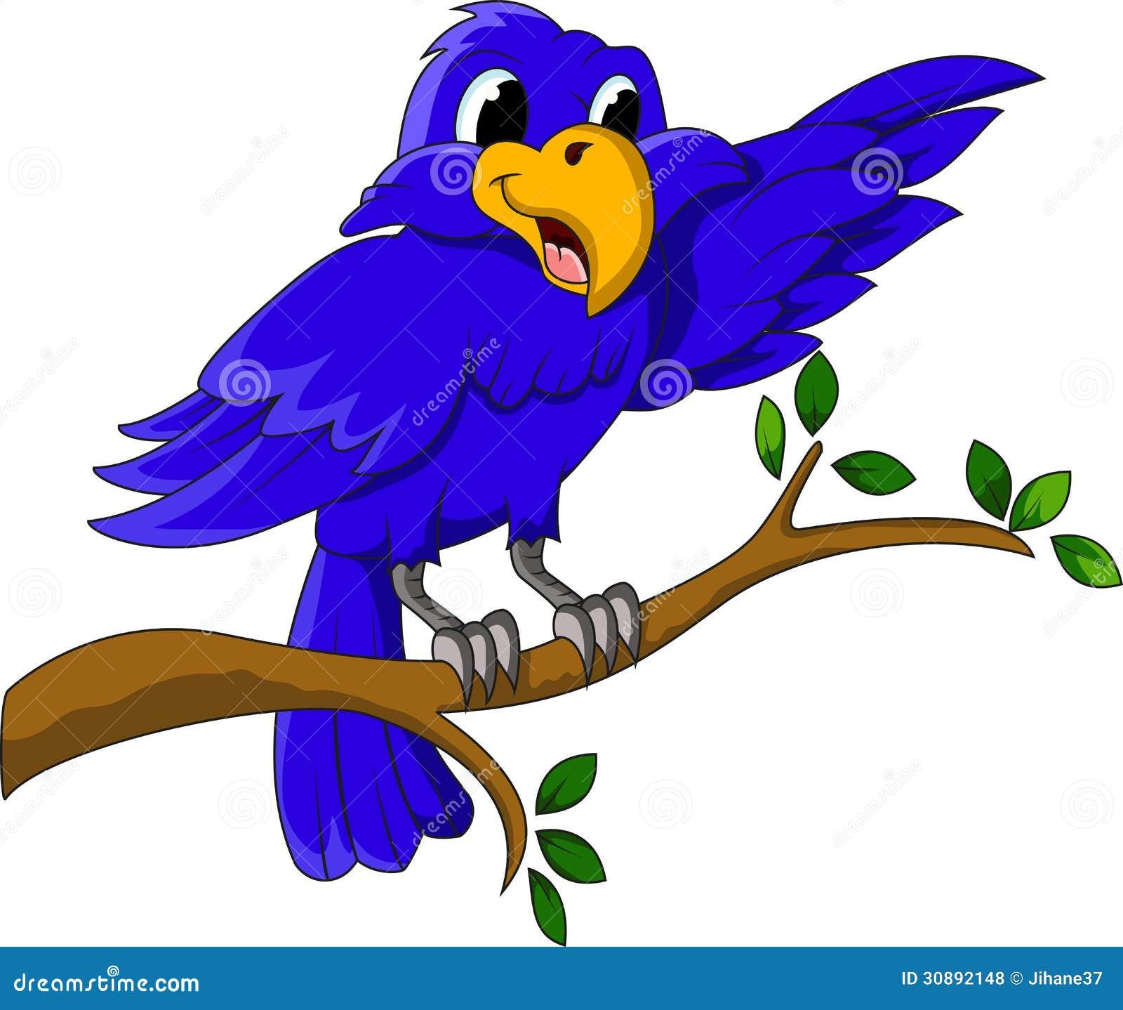 Un Personaje De Dibujos Animados Azul Del Pájaro Que Presenta En Una