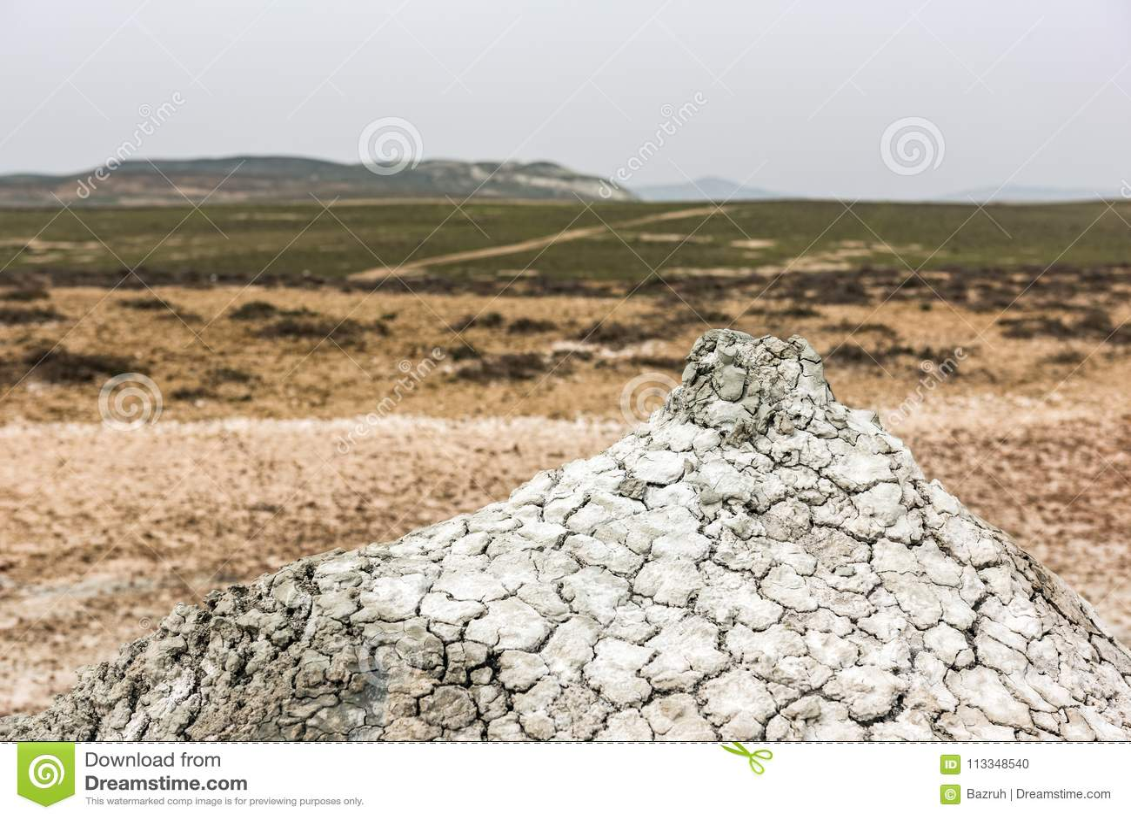 Un petit volcan de boue