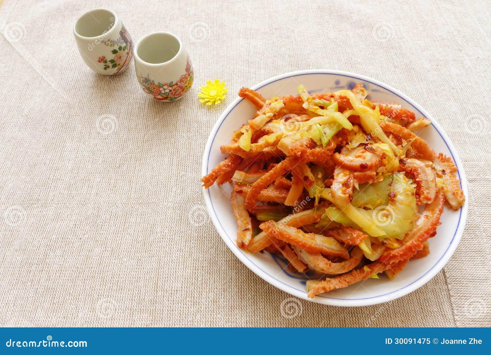 Aperitivo cinese di freddo dell alimento