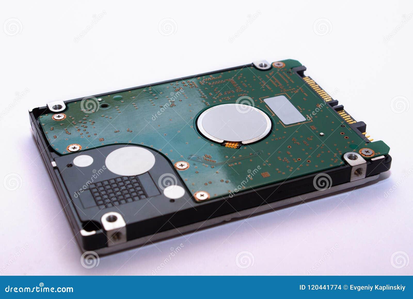 Un plan rapproché d une unité de disque dur La technologie du stockage de données sur l ordinateur winchester