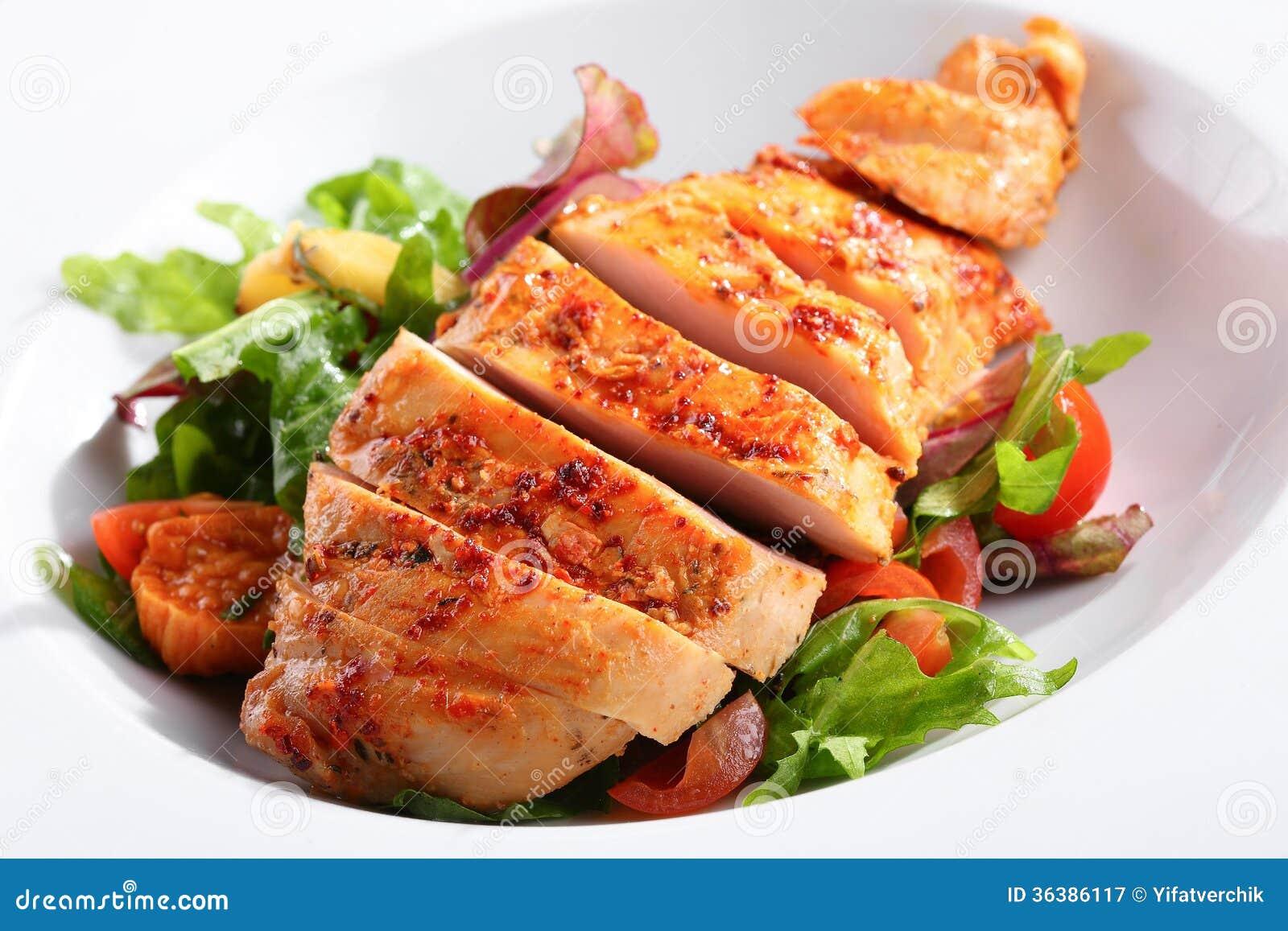 un plat de blanc de poulet photographie stock libre de droits image 36386117. Black Bedroom Furniture Sets. Home Design Ideas
